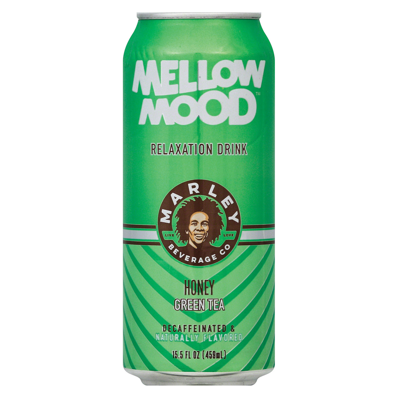 Marley's Mellow Mood Green Tea - Honey - Case of 12 - 15.5 Fl oz.