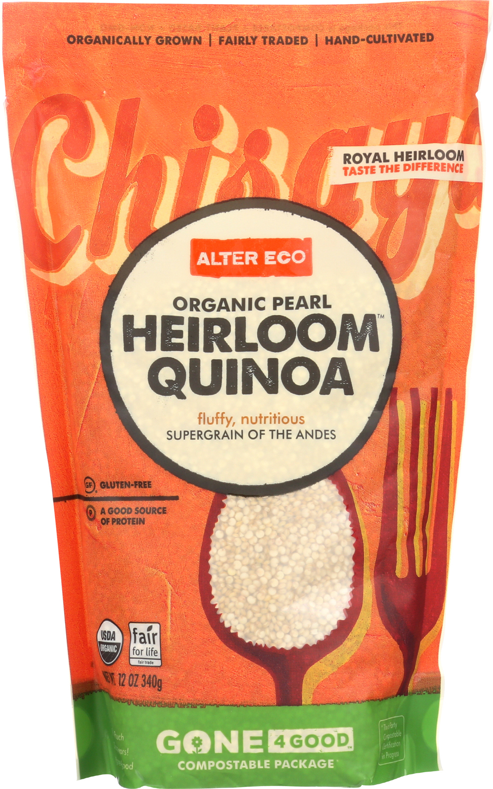 Alter Eco Americas Quinoa - Organic Pearl Heirloom - Case of 6 - 12 oz.