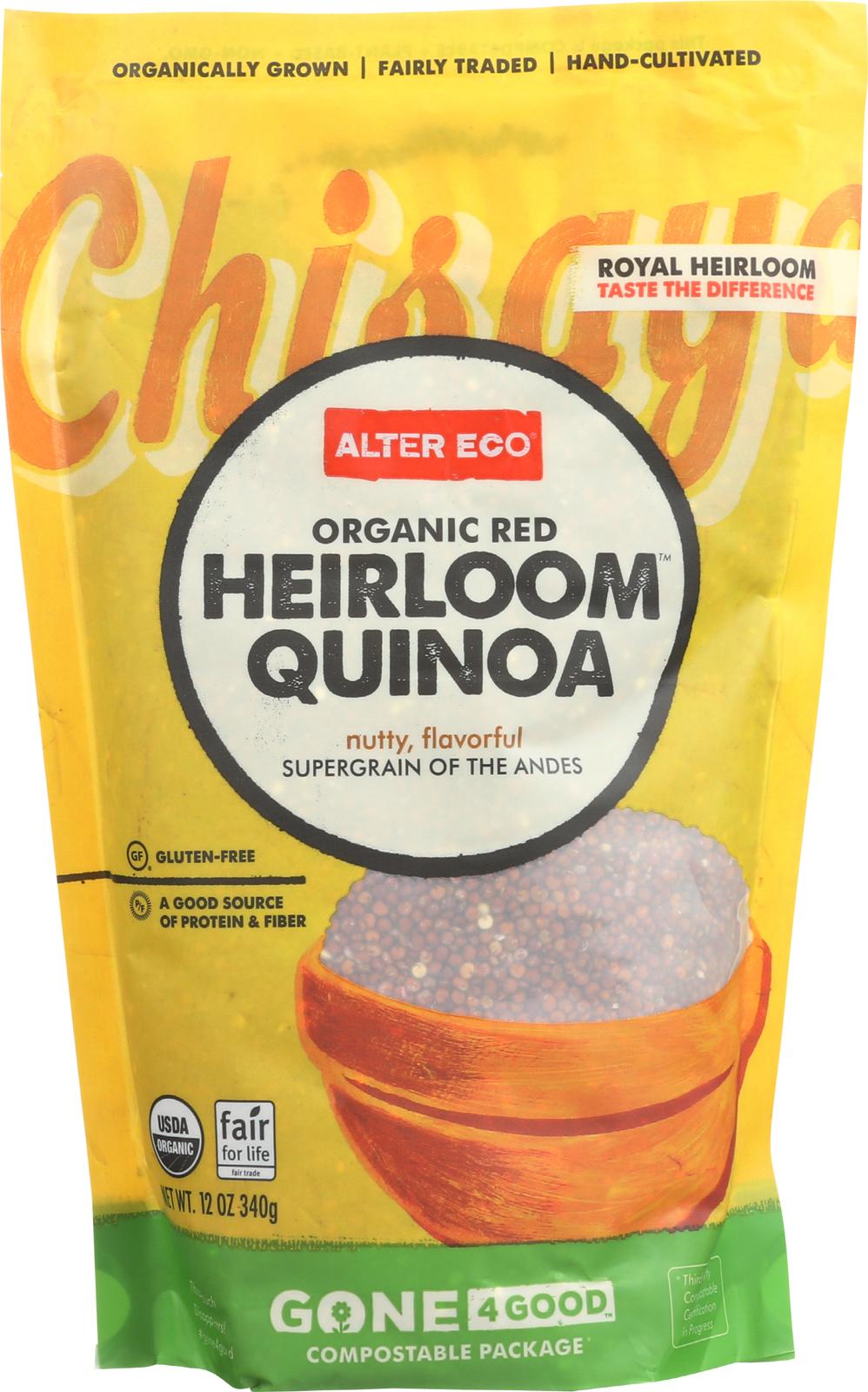 Alter Eco Americas Quinoa - Organic Red Heirloom - Case of 6 - 12 oz.
