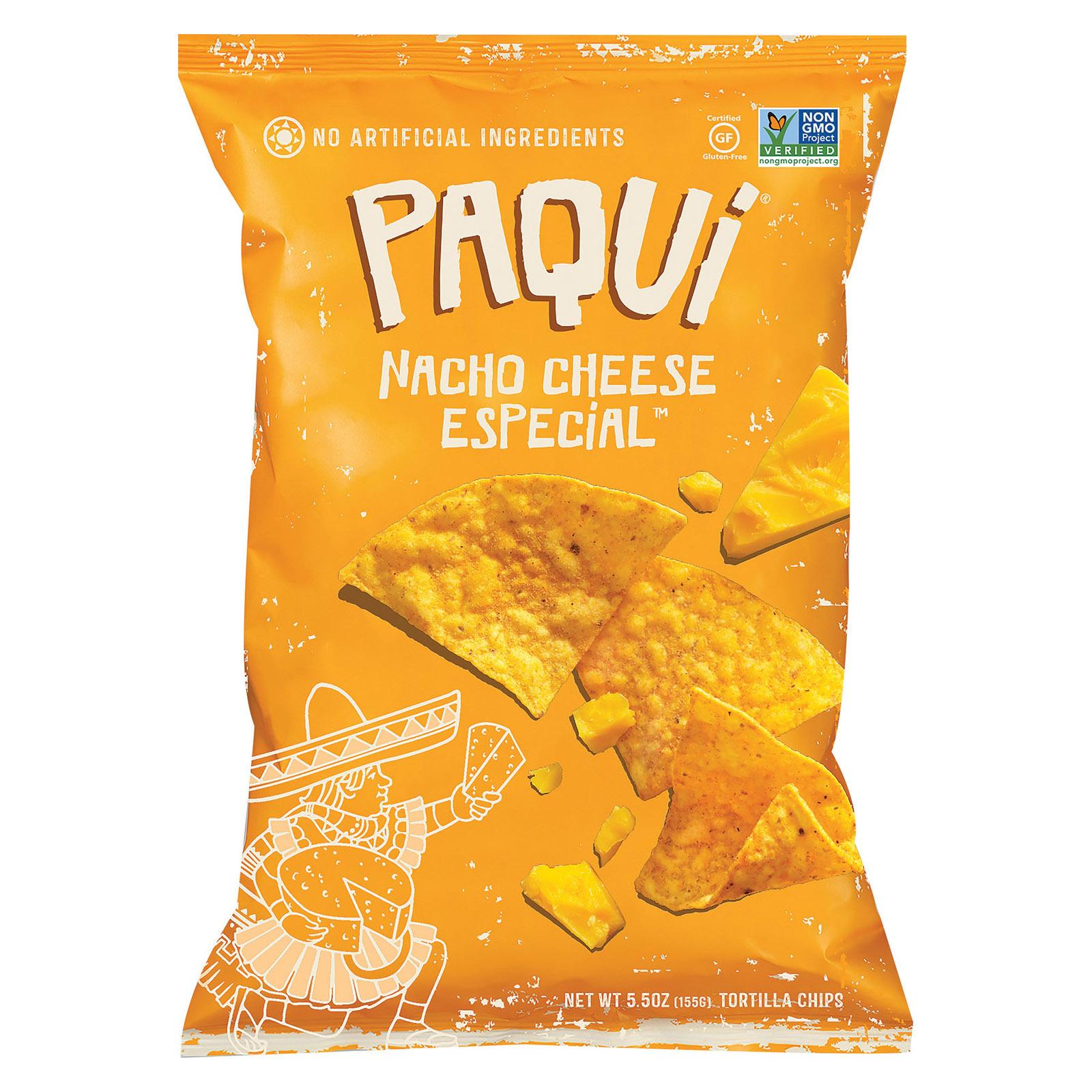 Paqui Tortilla Chip - Nacho Cheese Special - Case of 12 - 5.5 oz.