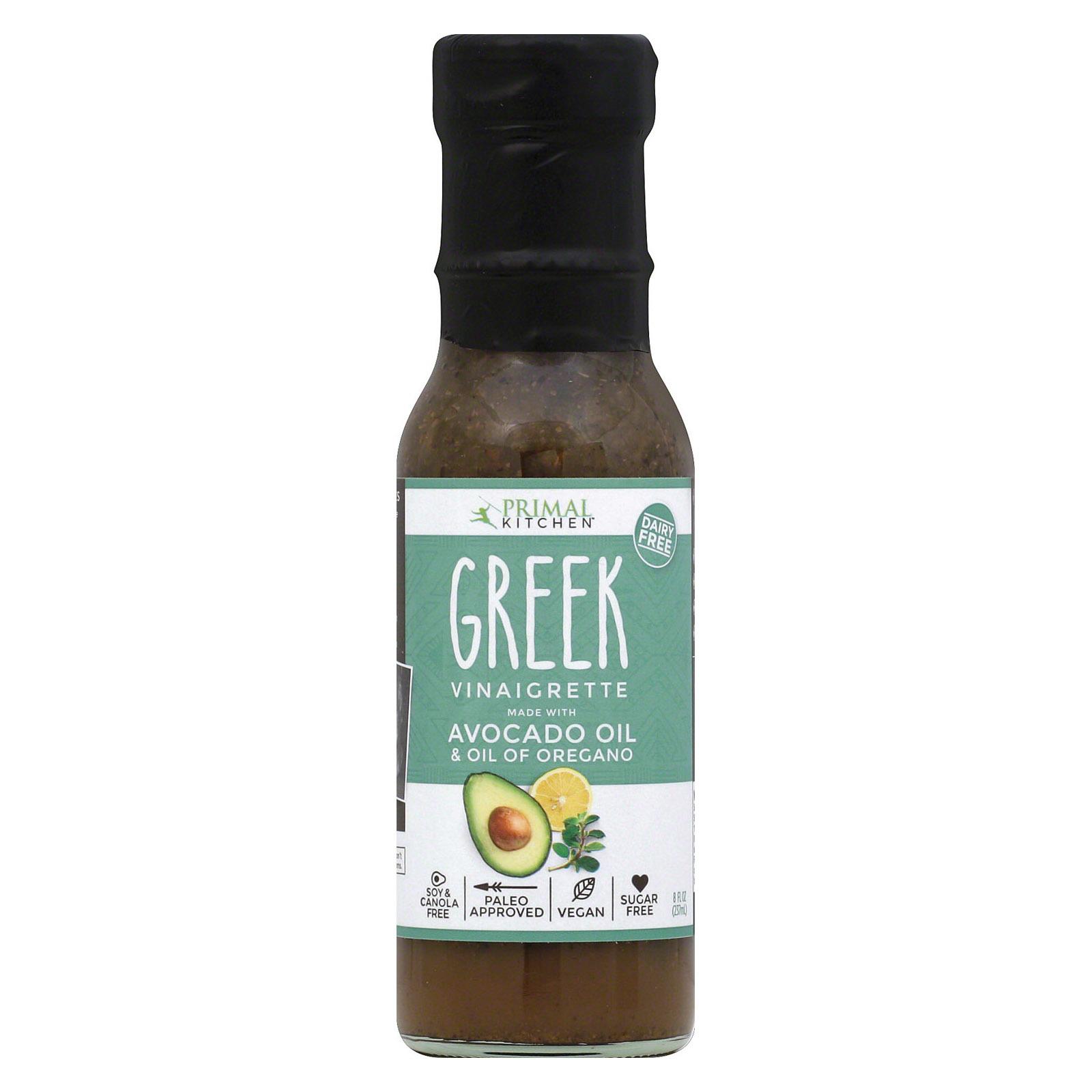 Primal Kitchen Greek Vinaigrette - Avocado Oil and Organic Oil - Case of 6 - 8 oz.