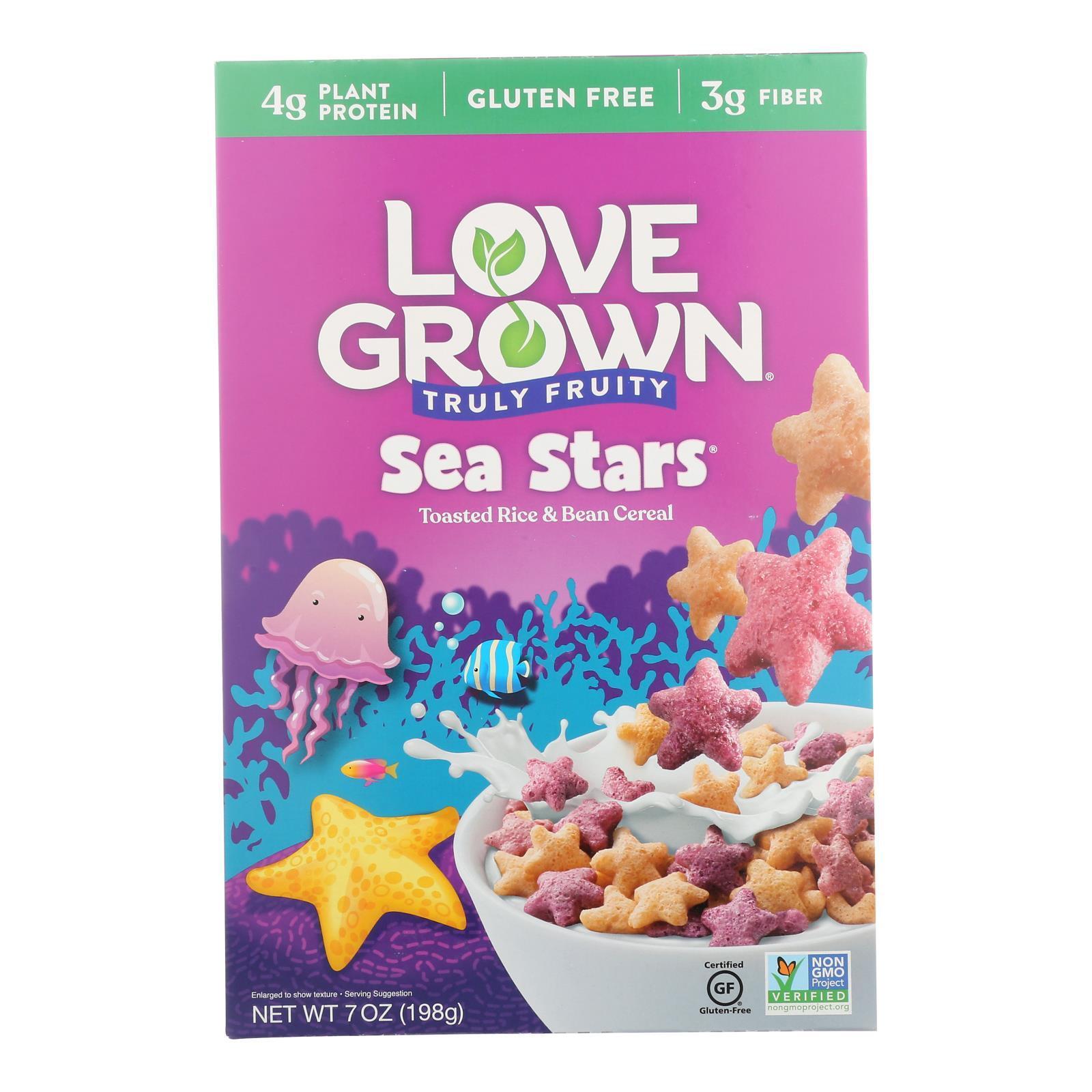 Love Grown Foods Fruity Sea Stars - Case of 6 - 7 oz.
