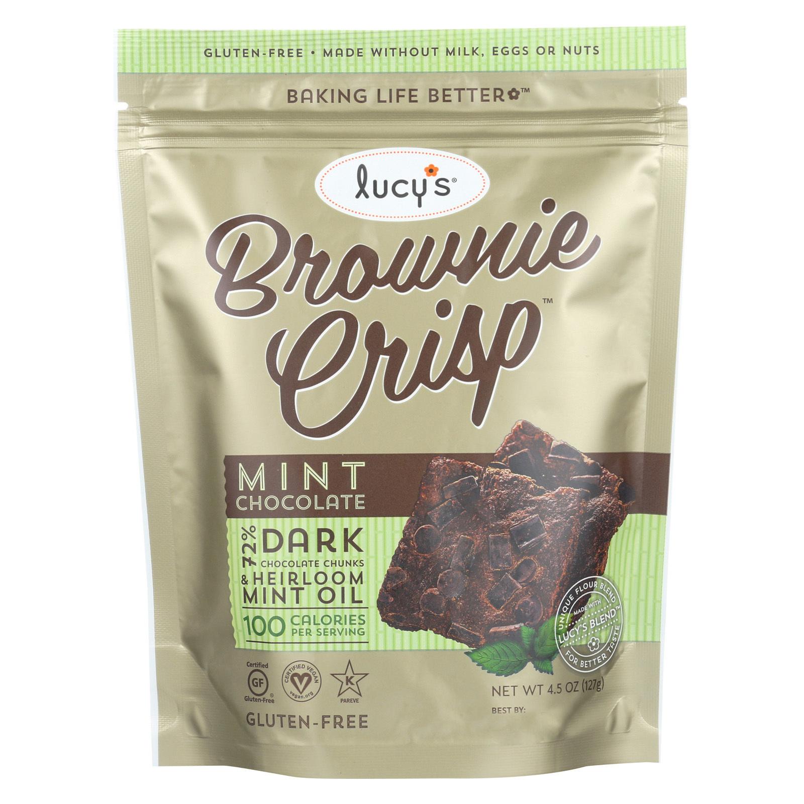 Dr. Lucy's Brownie Crisps - Mint - Case of 8 - 4.5 oz.