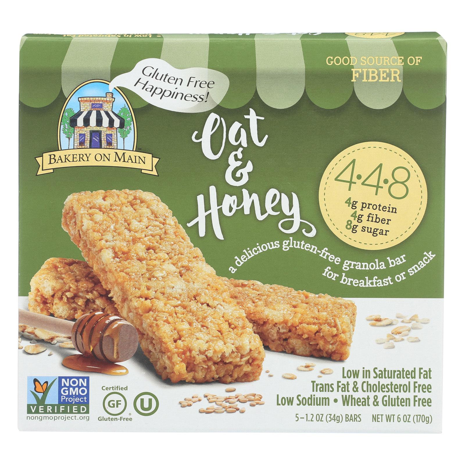 Bakery On Main Granola Bars - Oat, Honey - Case of 6 - 1.2 oz.