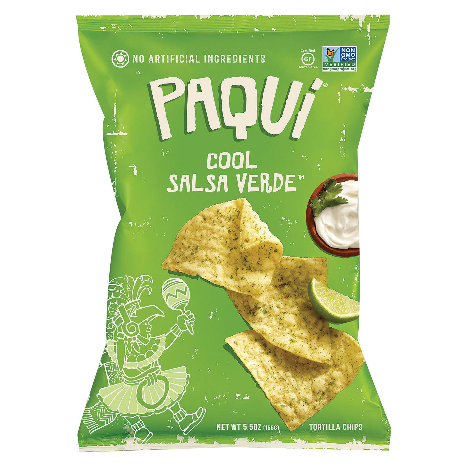 Paqui Tortilla Chip - Very Verde Good - Case of 12 - 5.5 oz.