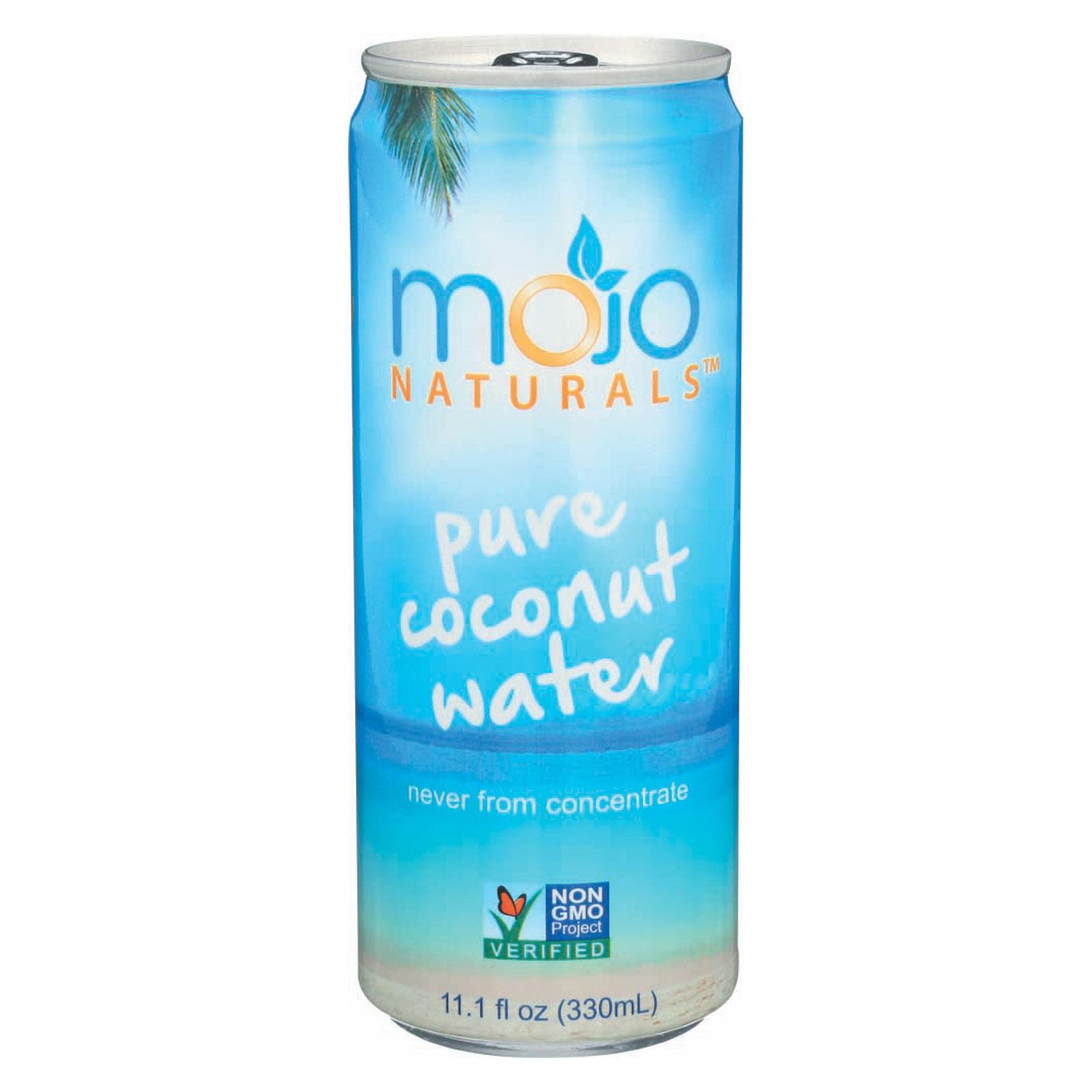 Mojo Pure Coconut Water - Case of 12 - 11.1 Fl oz.
