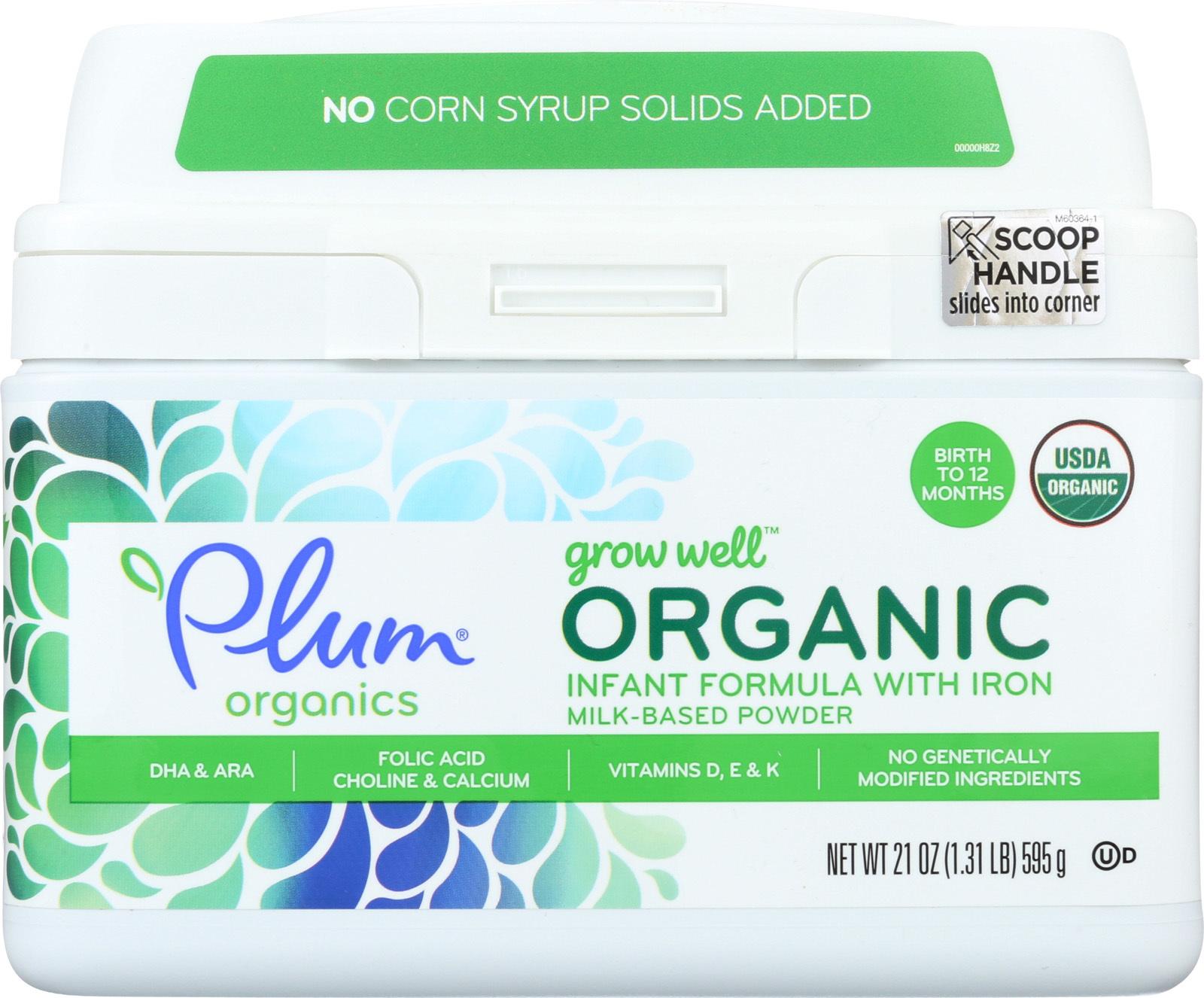 Plum Kids Baby Grow Well - Organic Infant Formula - Case of 4 - 21 oz.