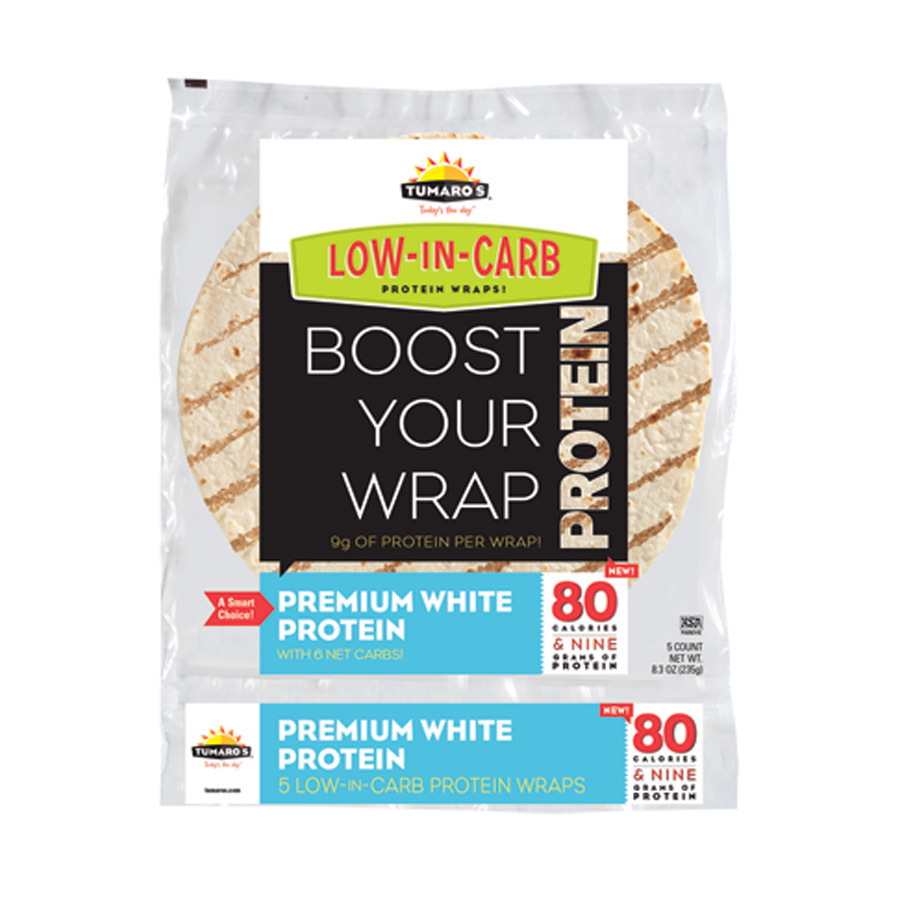 Tumaros Low-In-Carb Wraps - Premium White Protein - 8