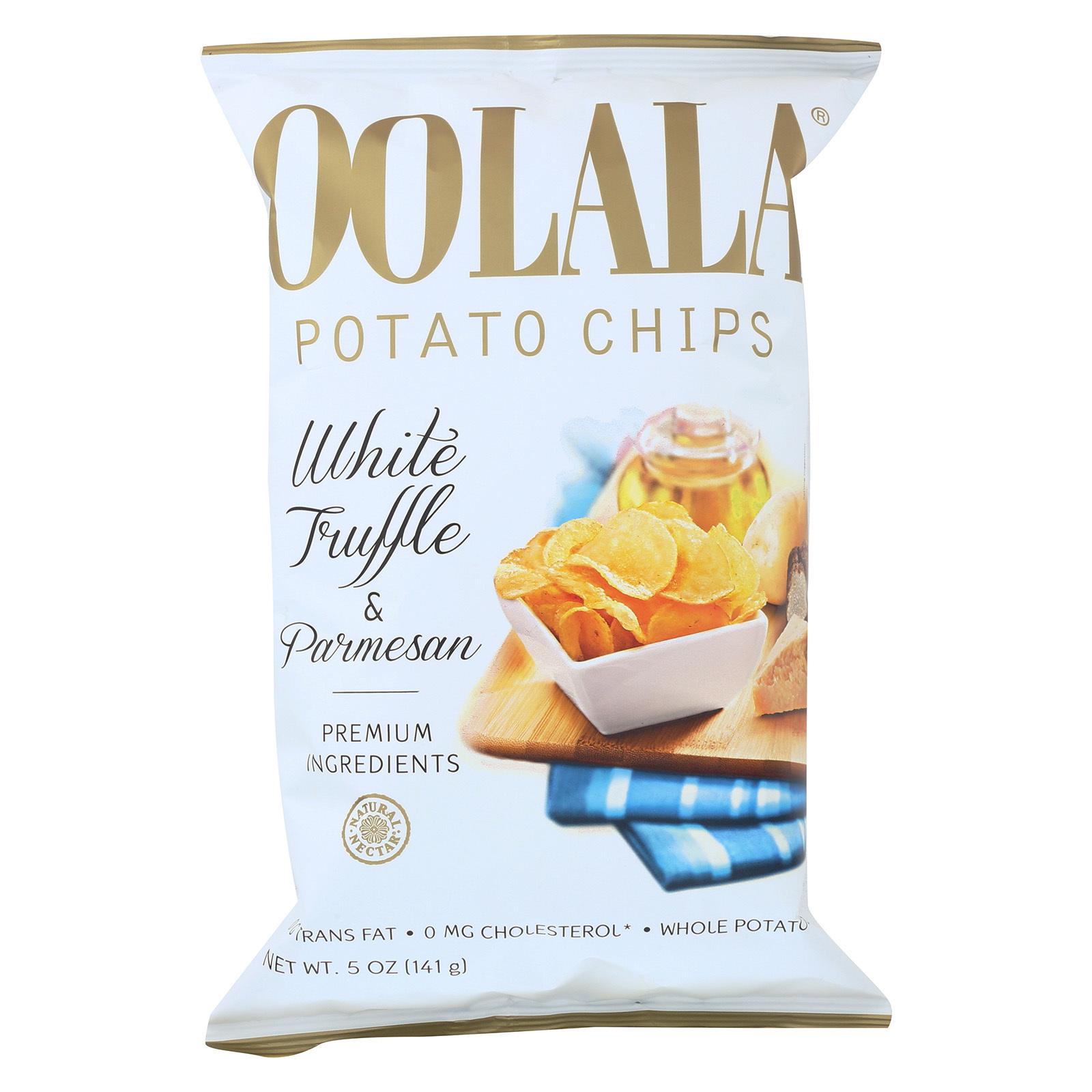 Oolala Potato Chips - White Truffle and Parmesan - Case of 9 - 5 oz.