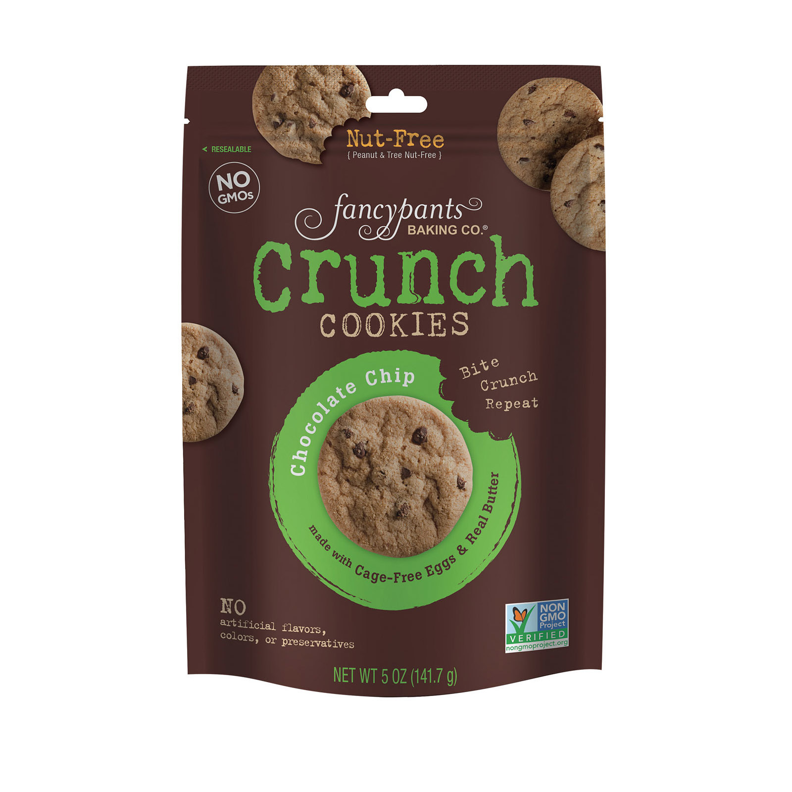 Fancypants Cookies - Chocolate Chip - Case of 6 - 5 oz.