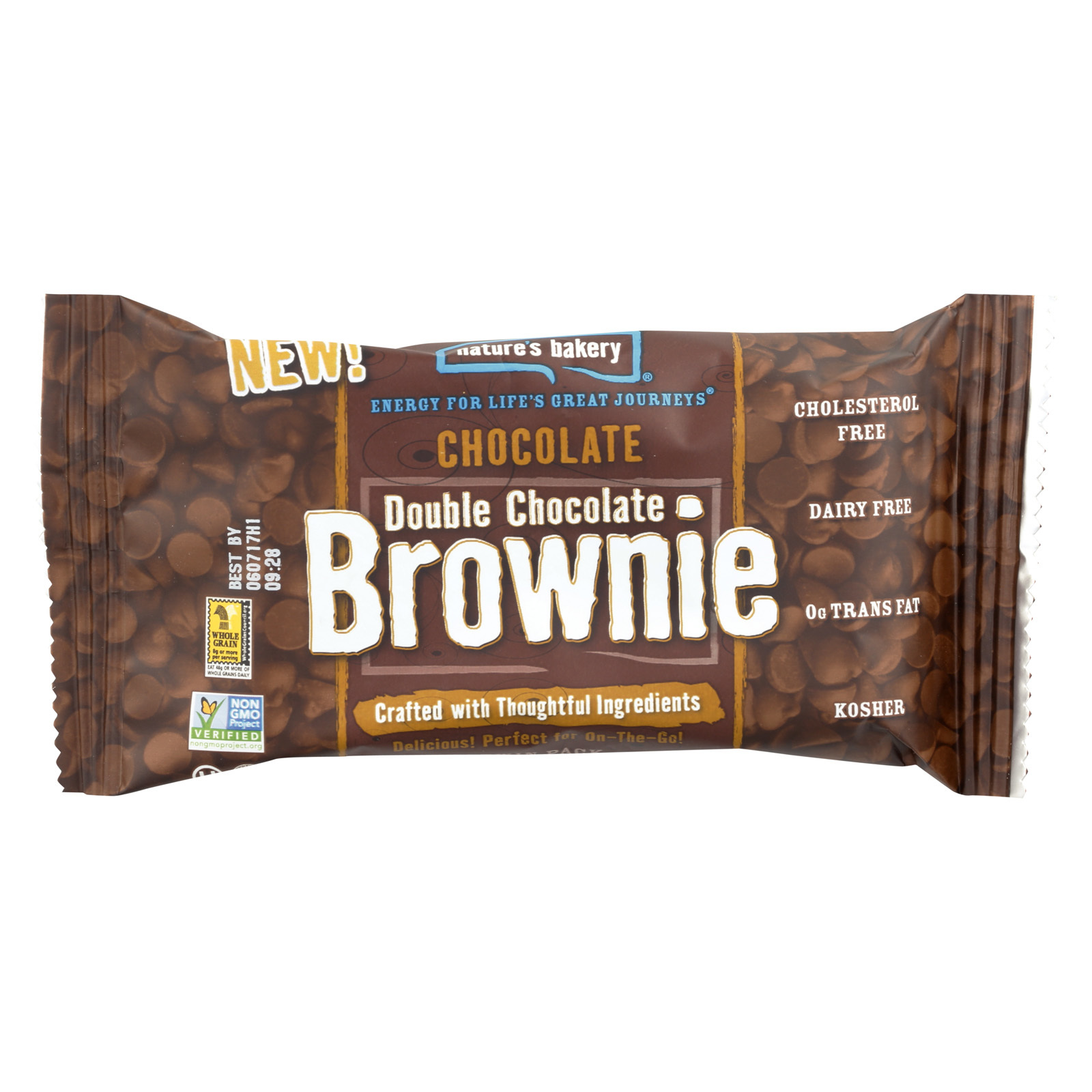 Nature's Bakery Double Chocolate Brownies - Chocolate - Case of 12 - 2 oz.