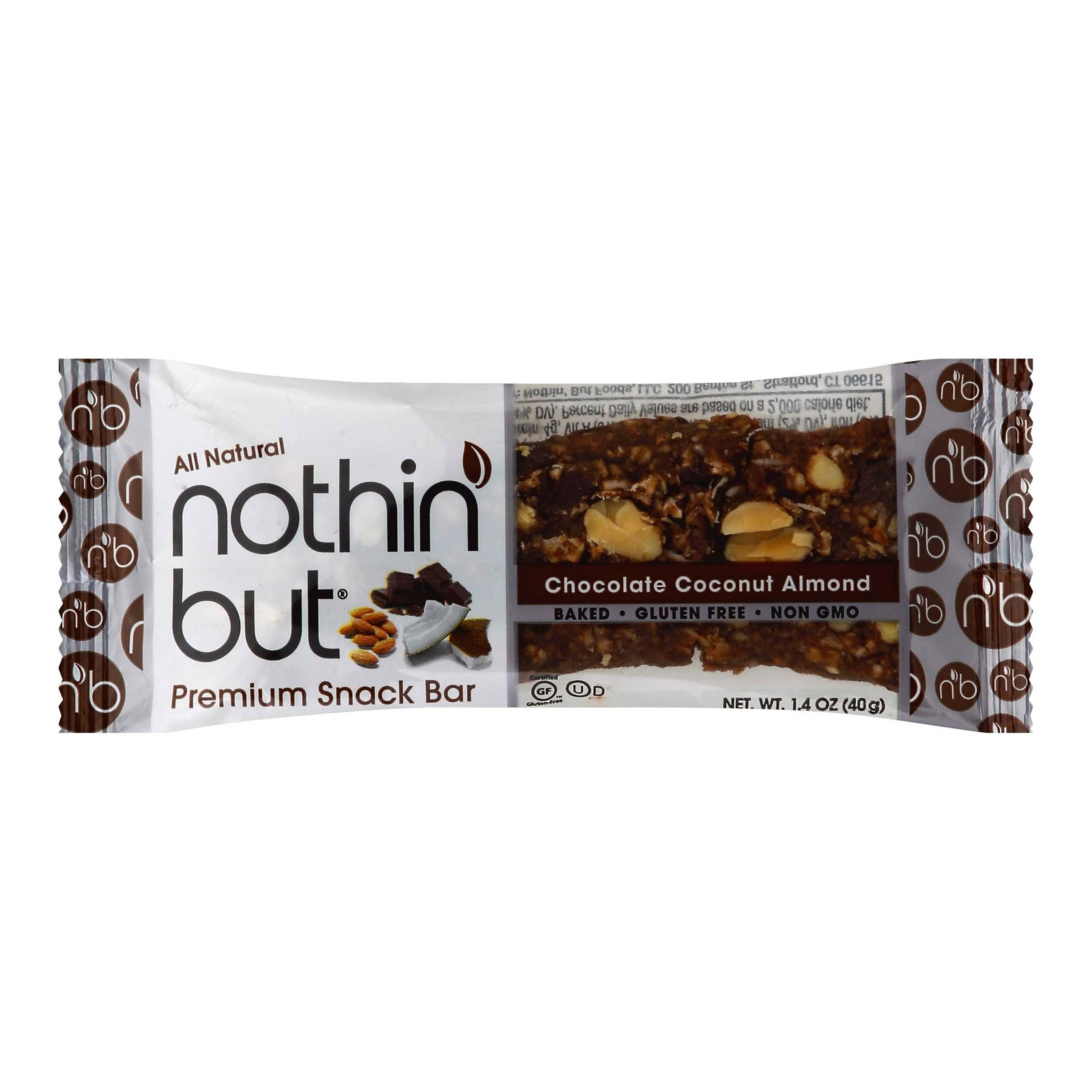 Nothin But Bar - Chocolate Coconut Almond - Case of 12 - 1.4 oz.