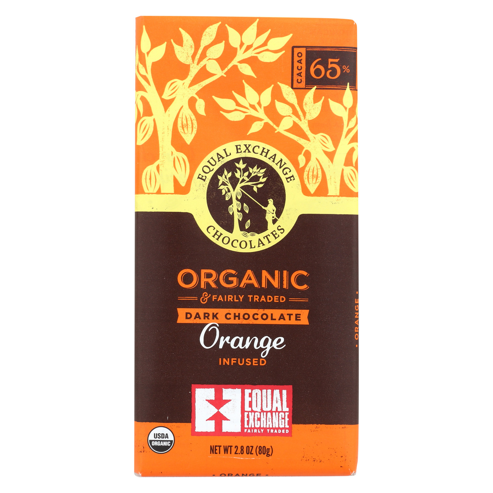 Equal Exchange Organic Orange Chocolate - Orange - Case of 12 - 2.8 oz.