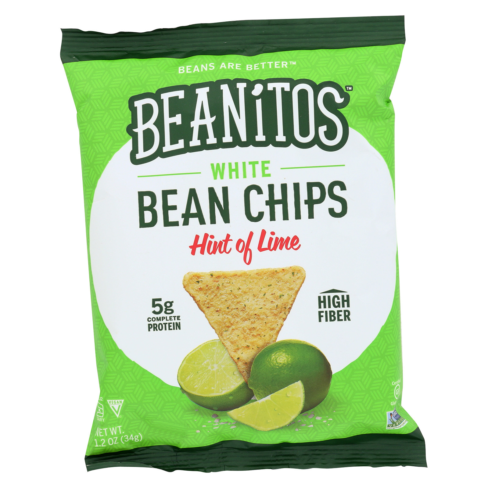 Beanitos Chips - Hint of Lime - Case of 24 - 1.2 oz.