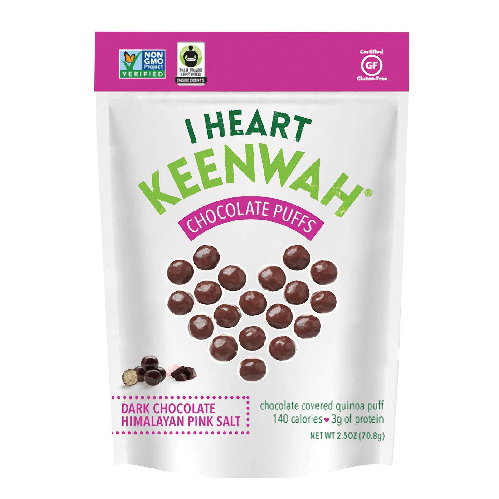 I Heart Keenwah Chocolate Puffs - Himalayan Pink Salt - Case of 6 - 2.5 oz.