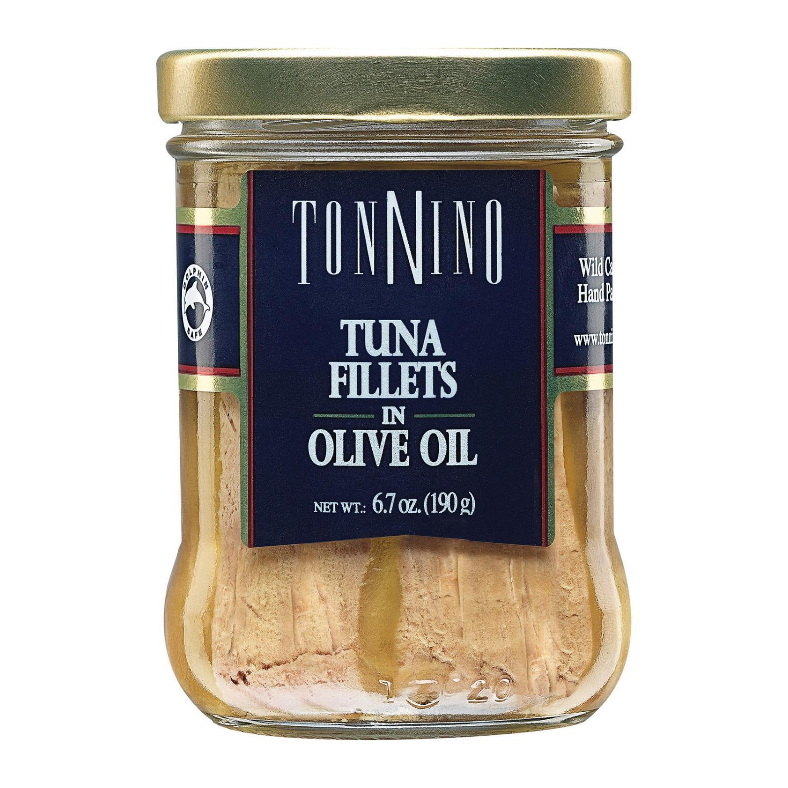 Tonnino Tuna Fillets - Olive Oil - Case of 6 - 6.7 oz.