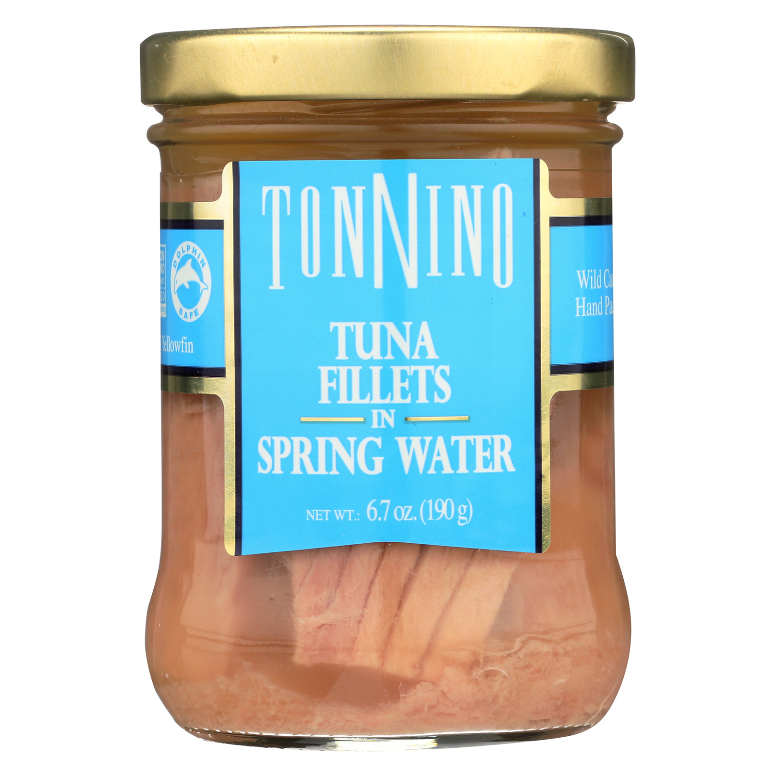 Tonnino Tuna Fillets - Spring Water - Case of 6 - 6.7 oz.