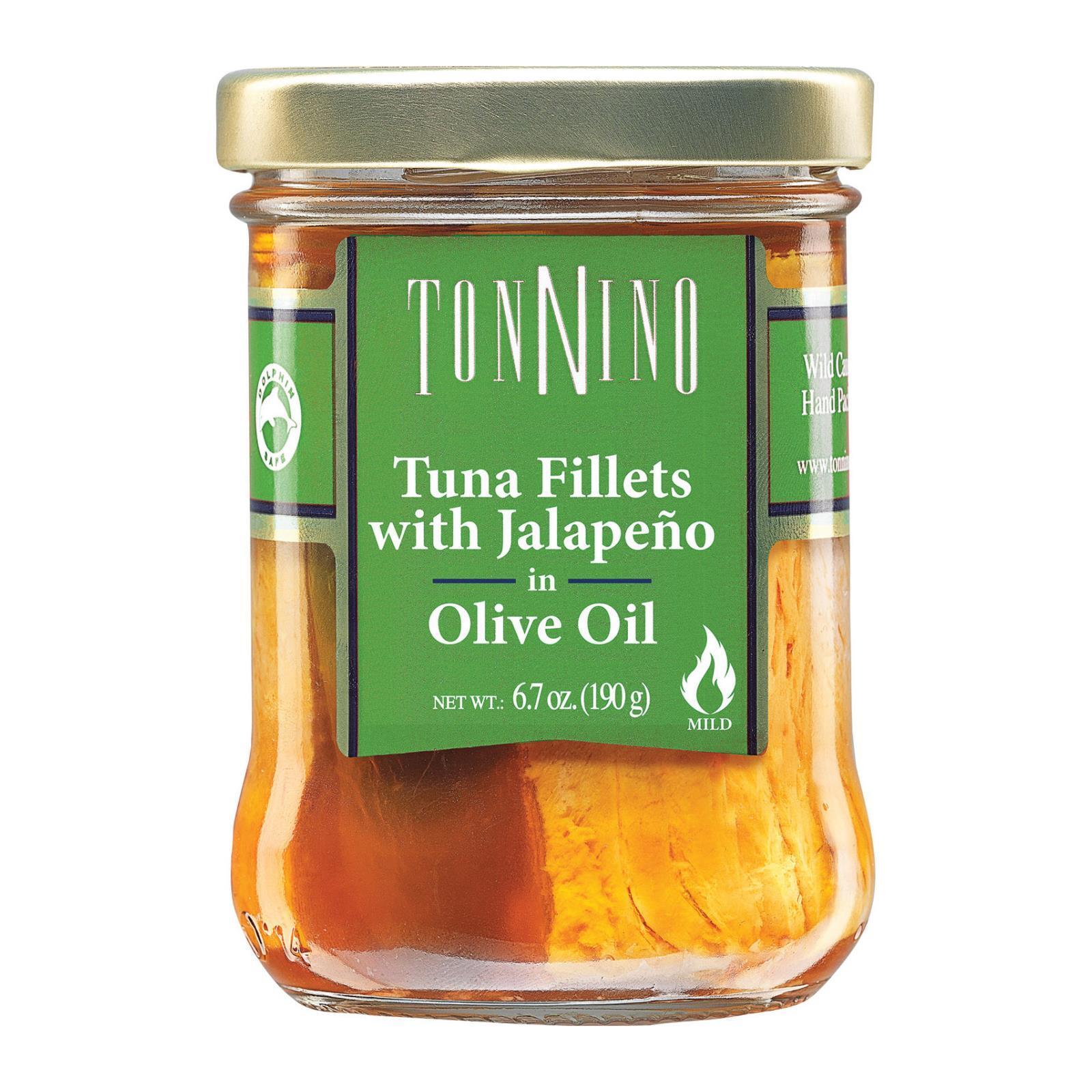 Tonnino Tuna Fillets - Jalapeno, Olive Oil - Case of 6 - 6.7 oz.