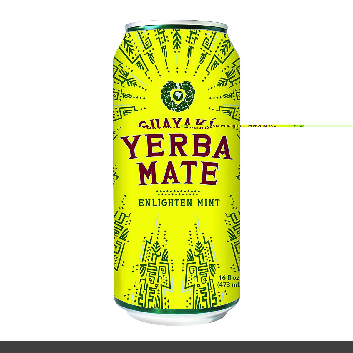 Guayaki Yerba Mate - Enlighten Mint - Case of 12 - 15.5 Fl oz.