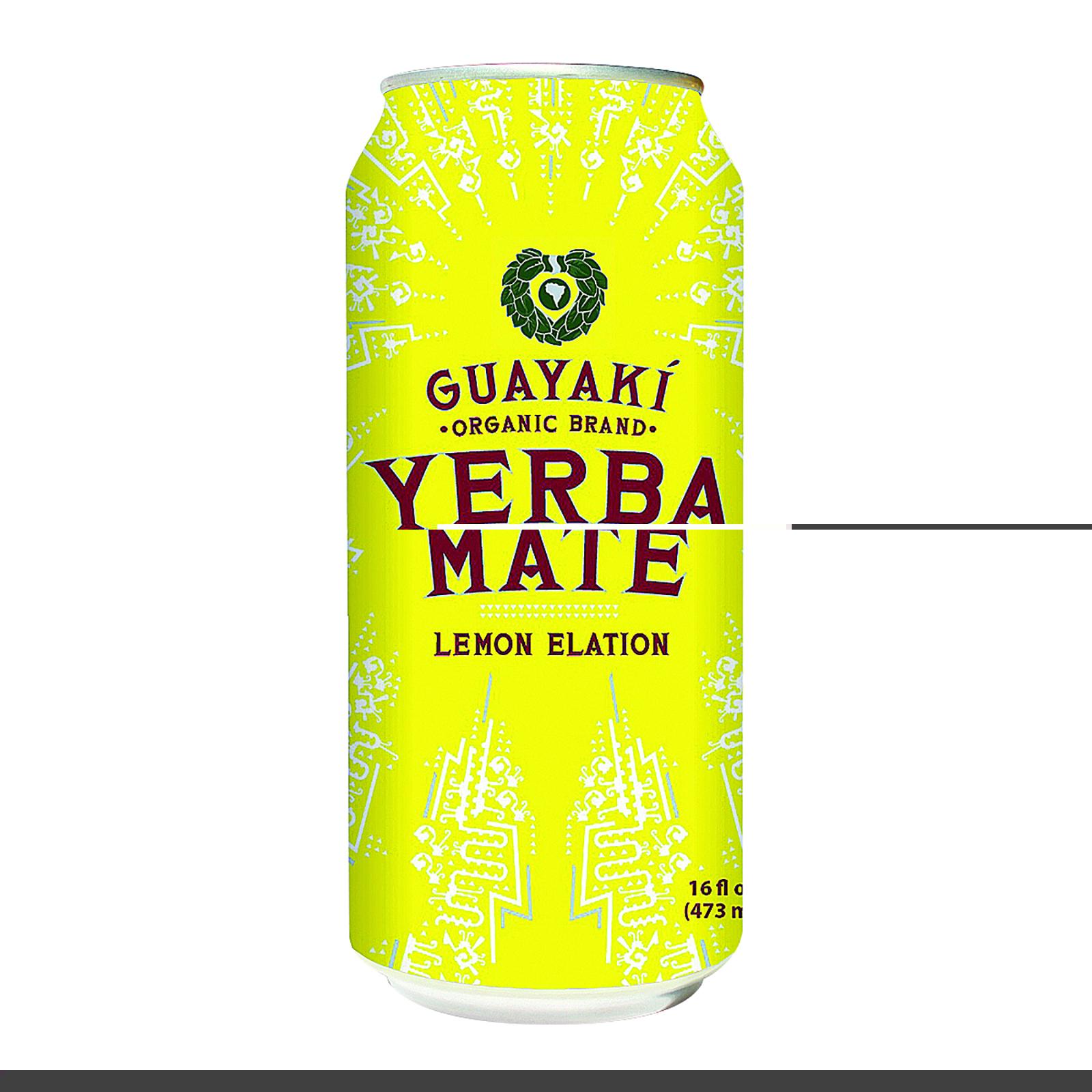 Guayaki Yerba Mate - Lemon Elation - Case of 12 - 15.5 Fl oz.