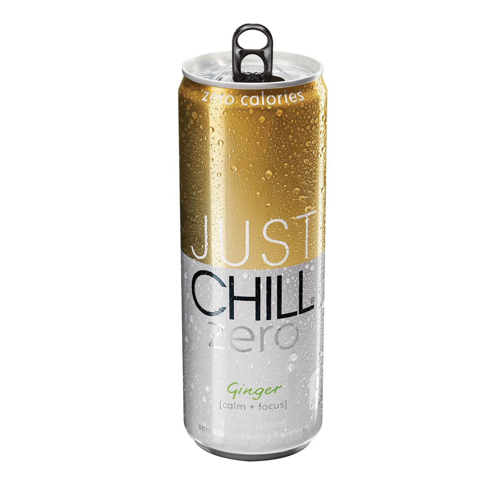 Just Chill Drink - Zero Ginger - Case of 12 - 12 Fl oz.