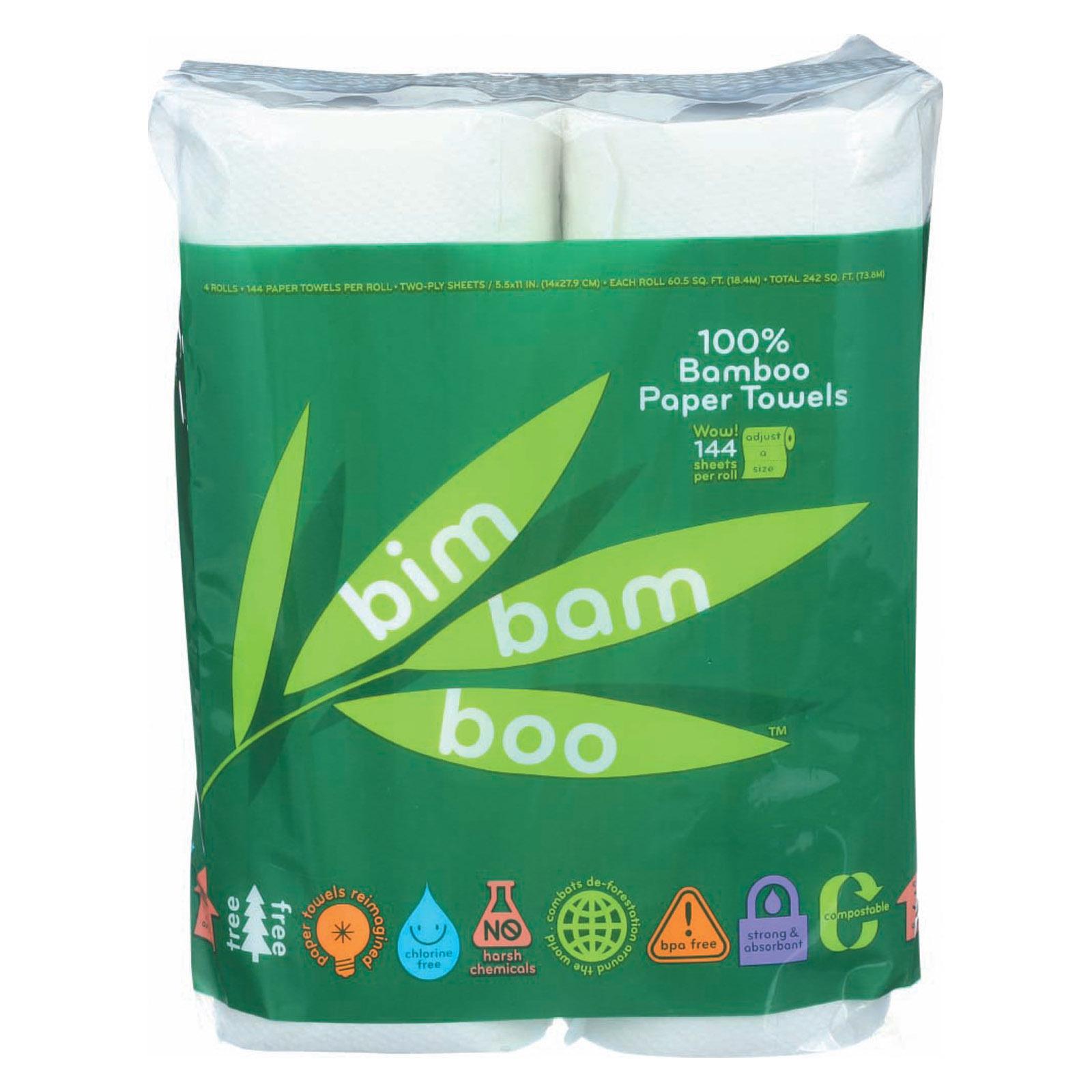Bim Bam Boo Paper Towels - Case of 8 - 4 roll