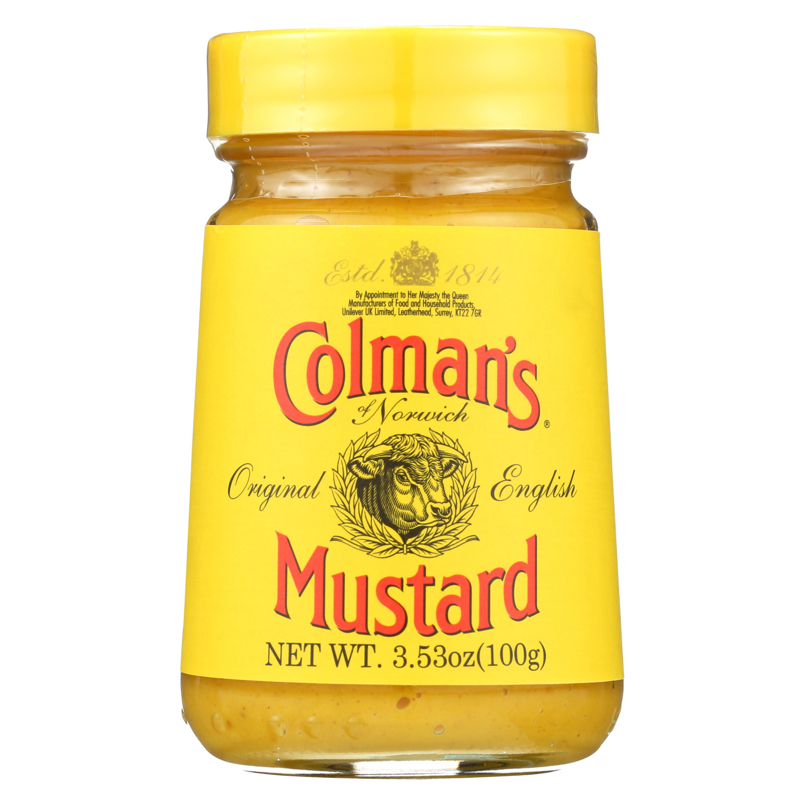 Colman Original English Mustard - Case of 8 - 3.53 oz.
