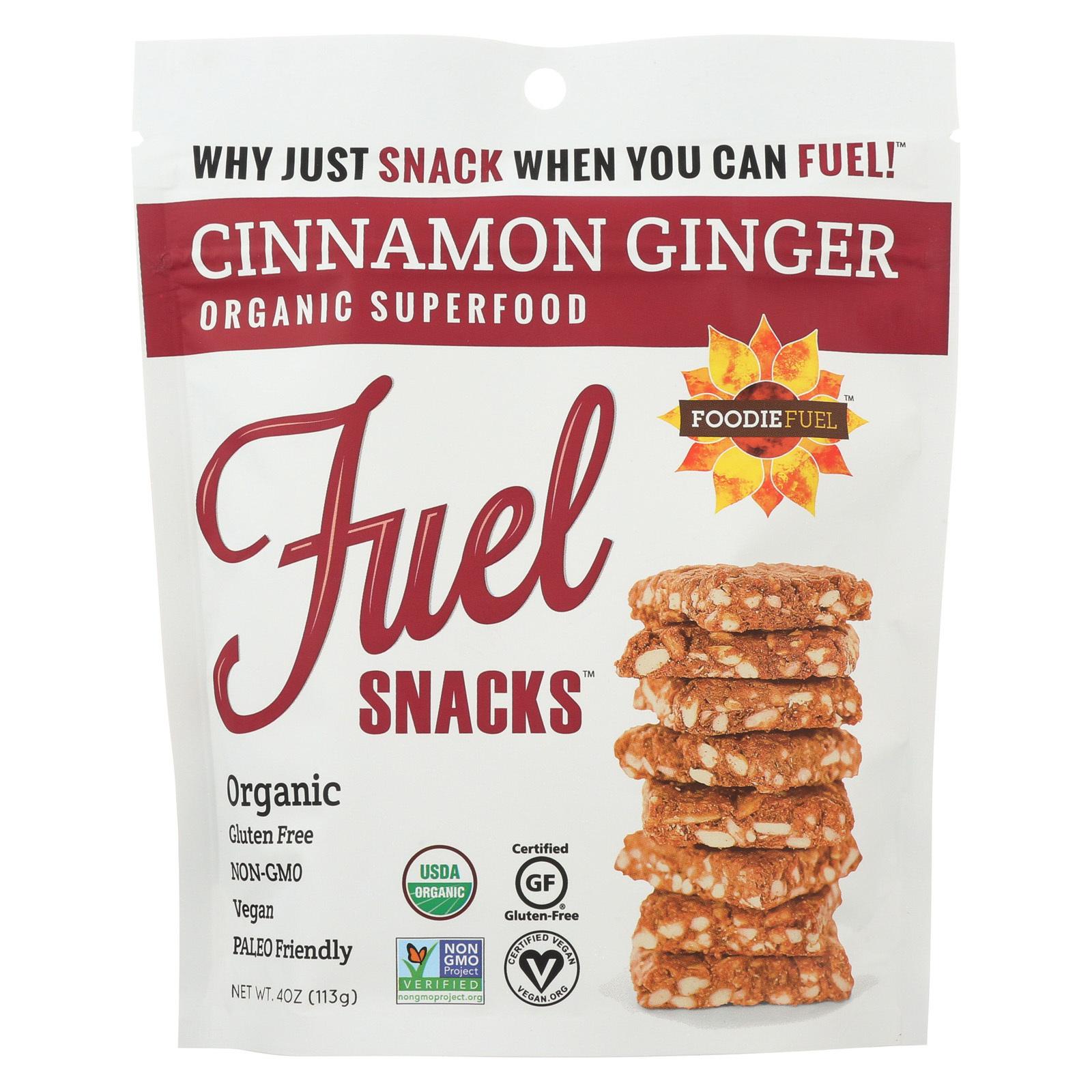 Foodie Fuel Snacks - Cinnamon Ginger - Case of 6 - 4 oz.