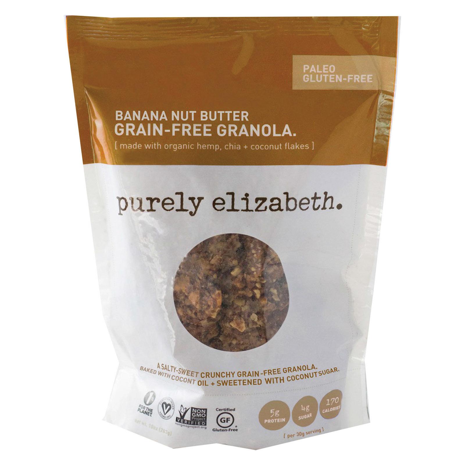 Purely Elizabeth Grain-Free Granola - Banana Nut Butter - Case of 6 - 8 oz.