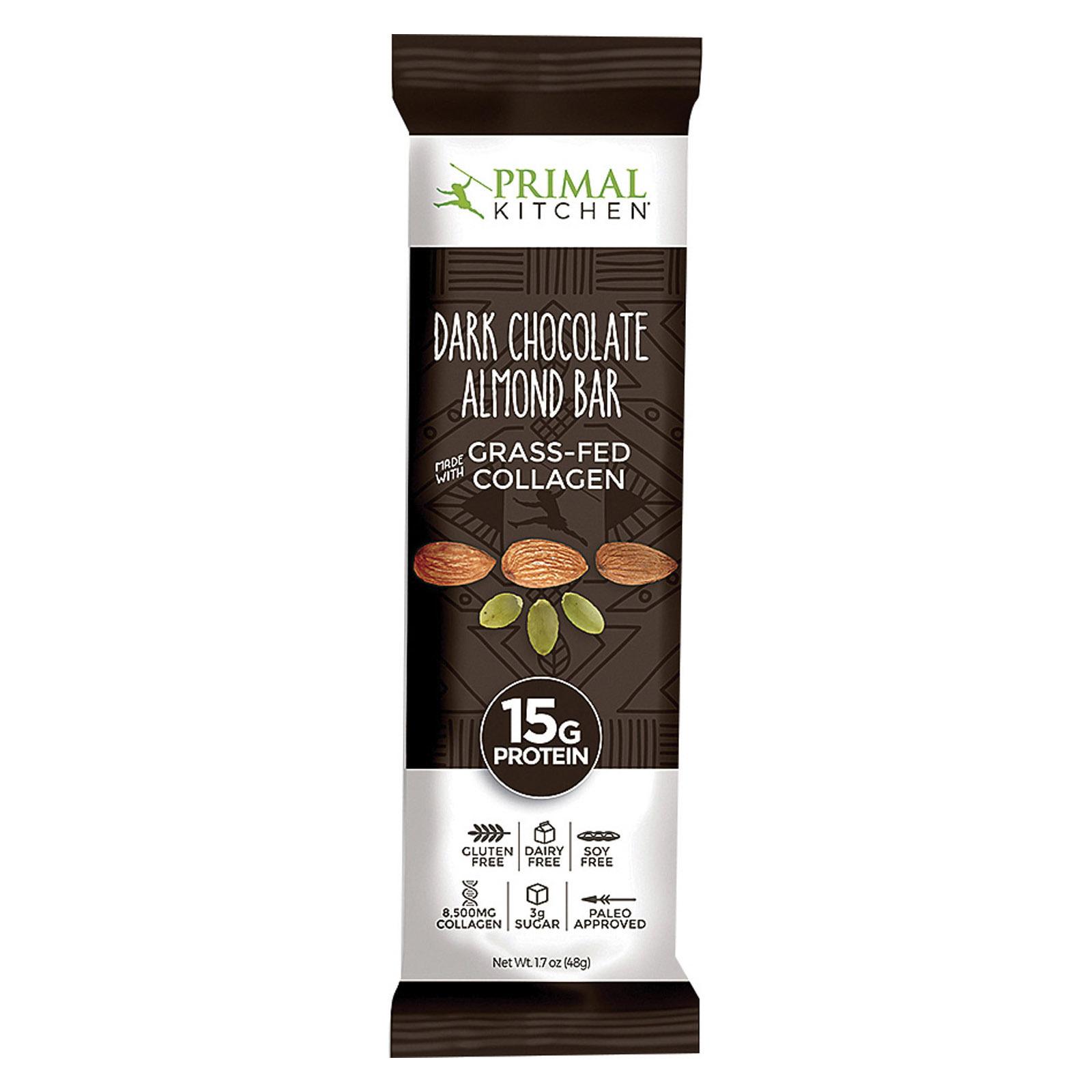 Primal Kitchen Almond Bars - Dark Chocolate - Case of 12 - 1.7 oz.