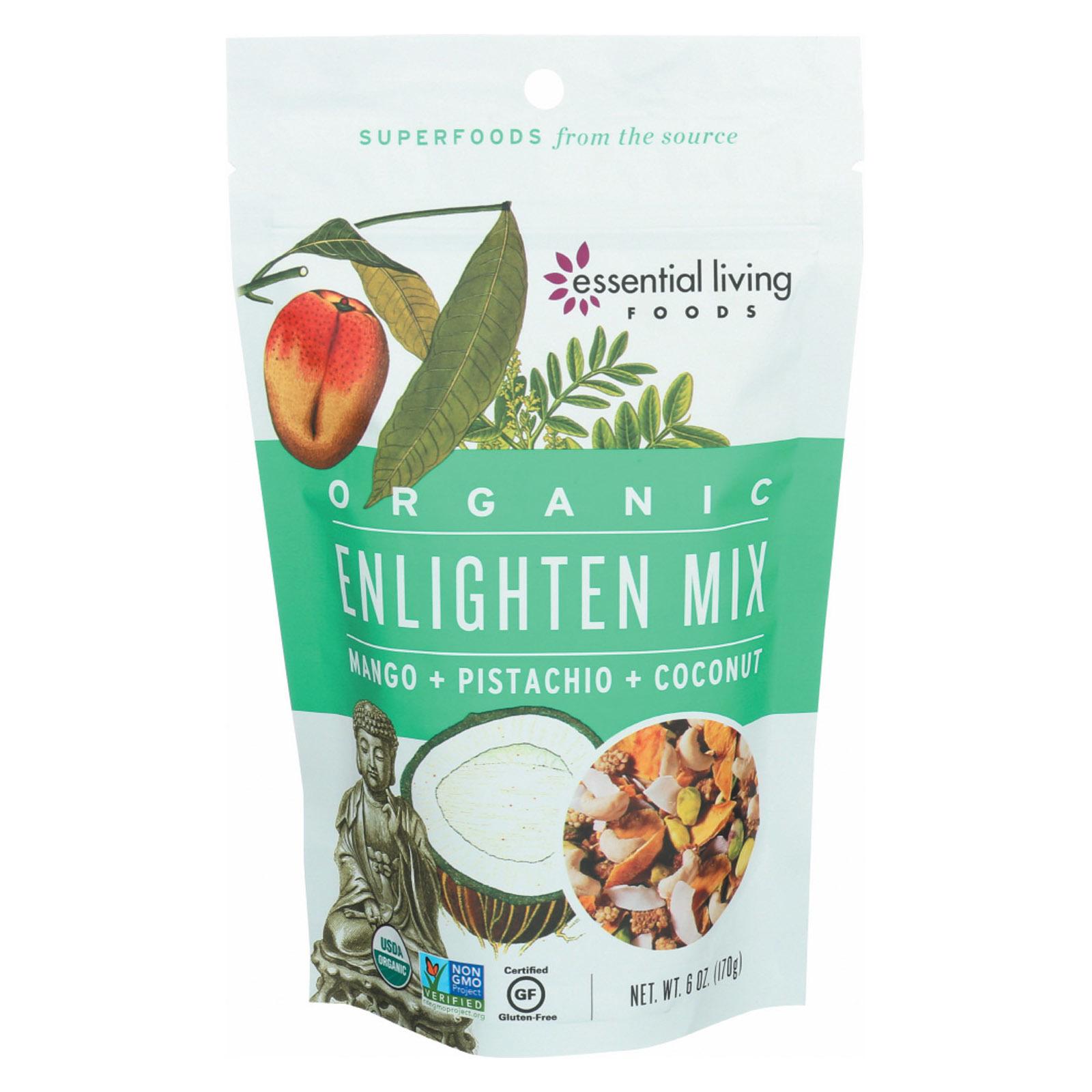 Essential Living Foods Organic Enlighten Mix - Mango Pistachio and Coconut - Case of 6 - 6 oz.