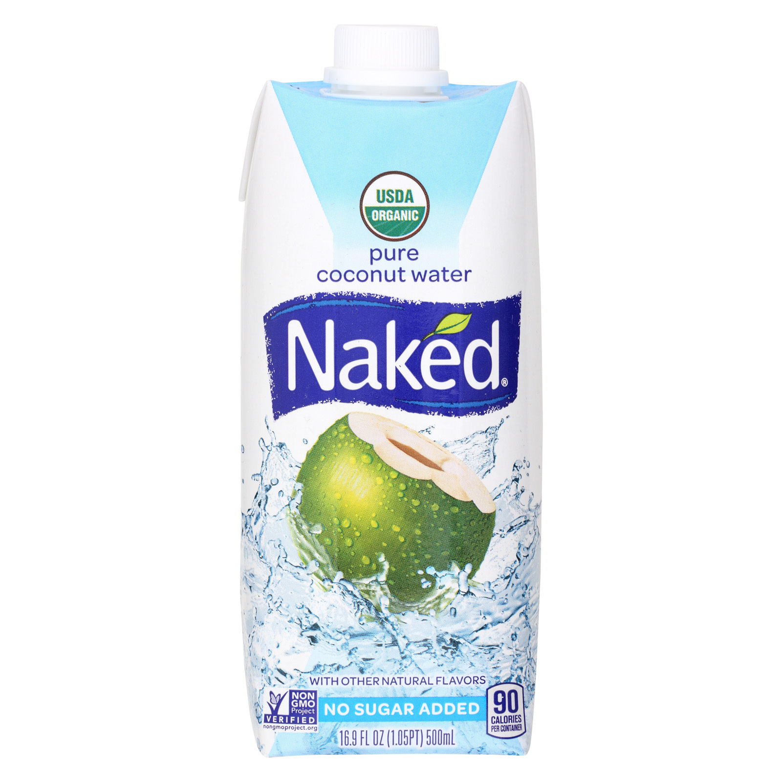 Naked Pure Coconut Water - Case of 12 - 16.9 Fl oz.