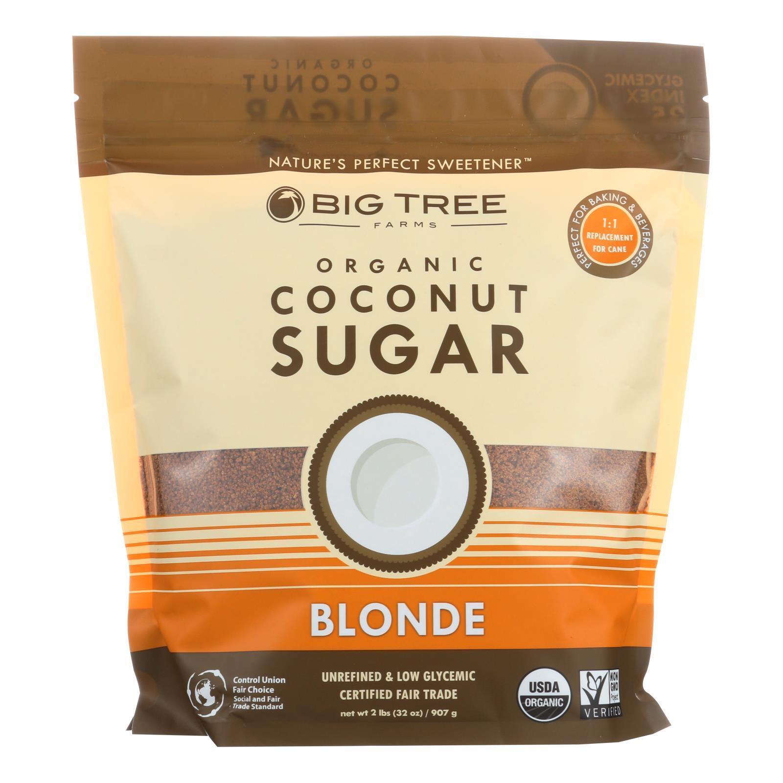 Big Tree Farms Organic Coconut Sugar - Blonde - Case of 6 - 32 oz.