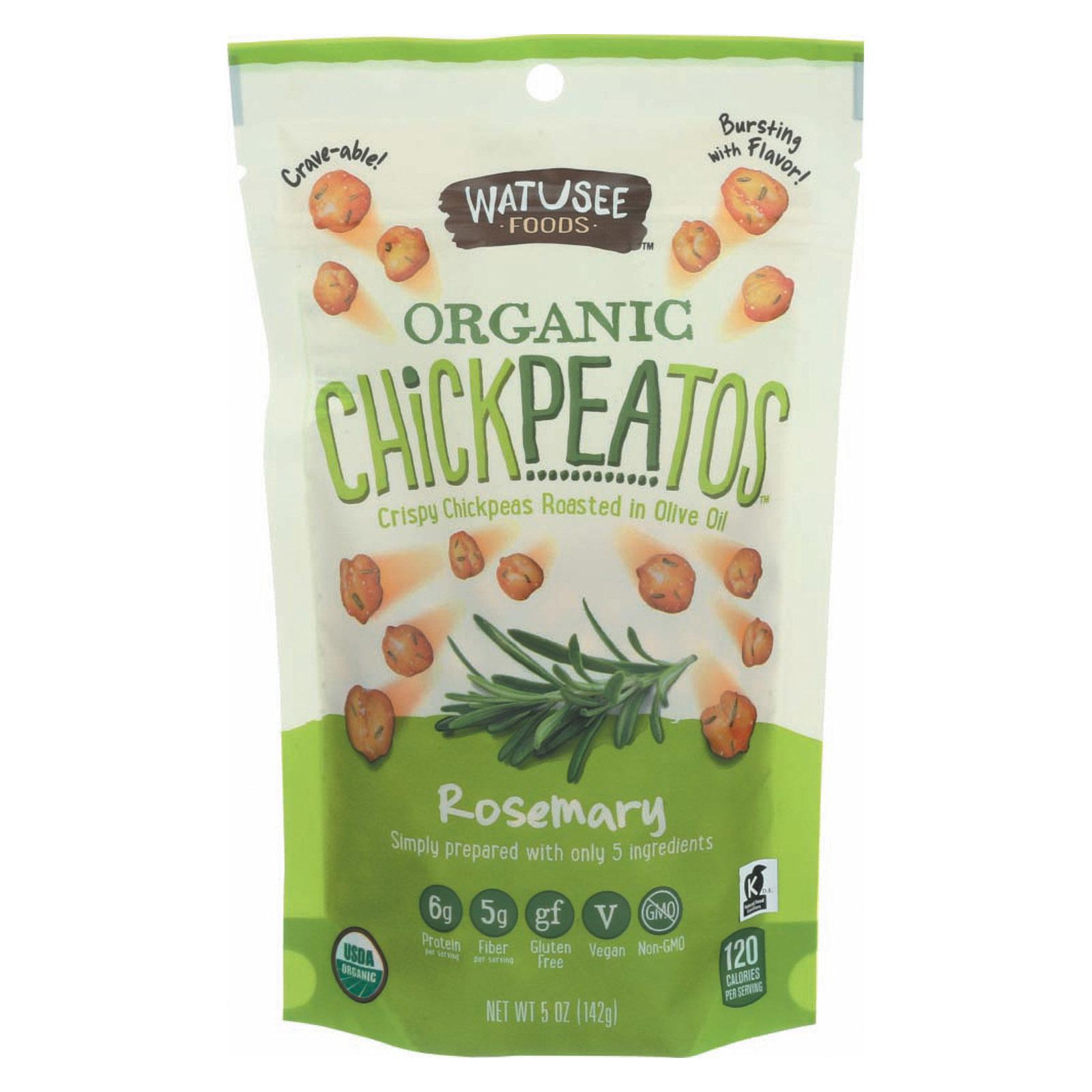 Watusee Foods Organic Chickpeas - Rosemary - Case of 12 - 5 oz