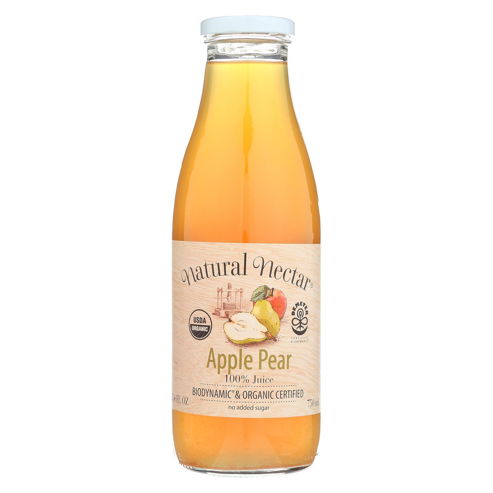 Natural Nectar Fruit Juices - Apple Pear - Case of 6 - 25.4 Fl oz.