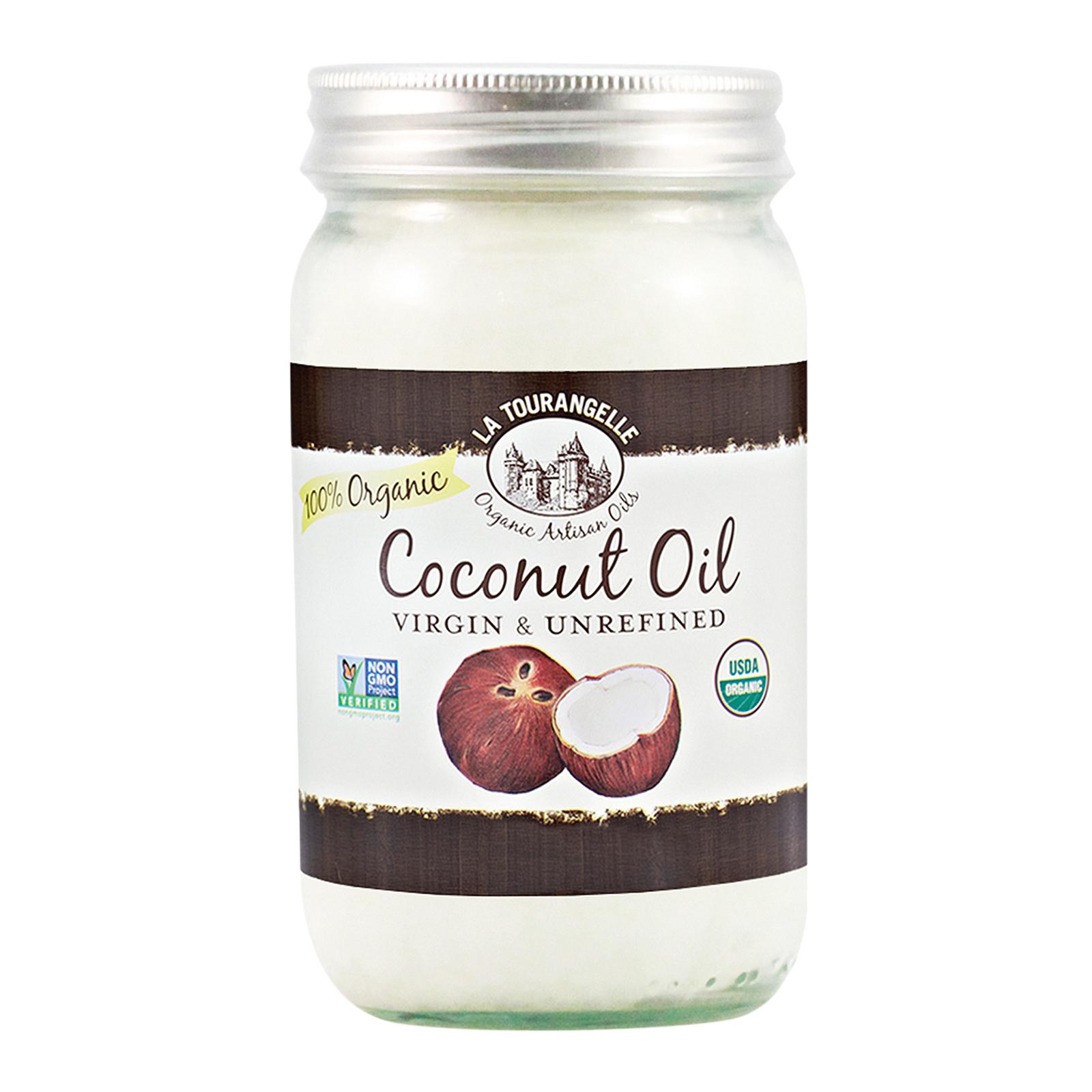 La Tourangelle Unrefined Coconut Oil - Case of 6 - 30 Fl oz.