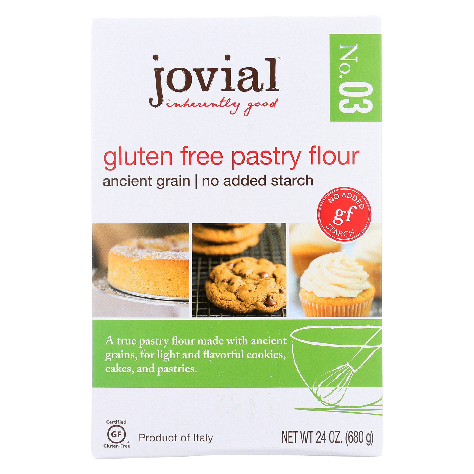 Jovial Gluten Free Pastry Flour - Case of 6 - 24 oz.