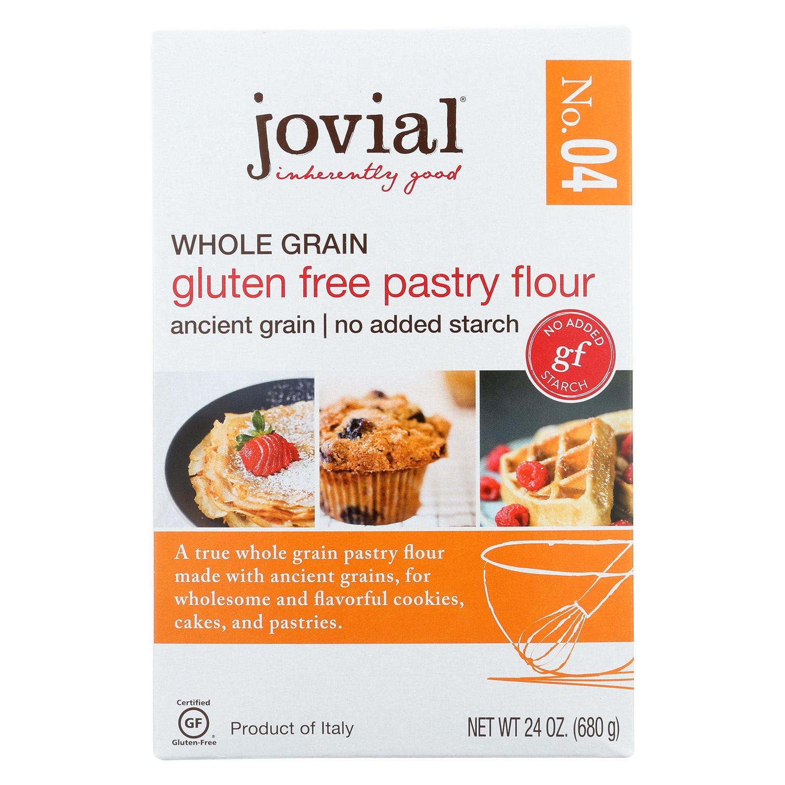 Jovial Gluten Free Pastry Flour - Whole Grain - Case of 6 - 24 oz.