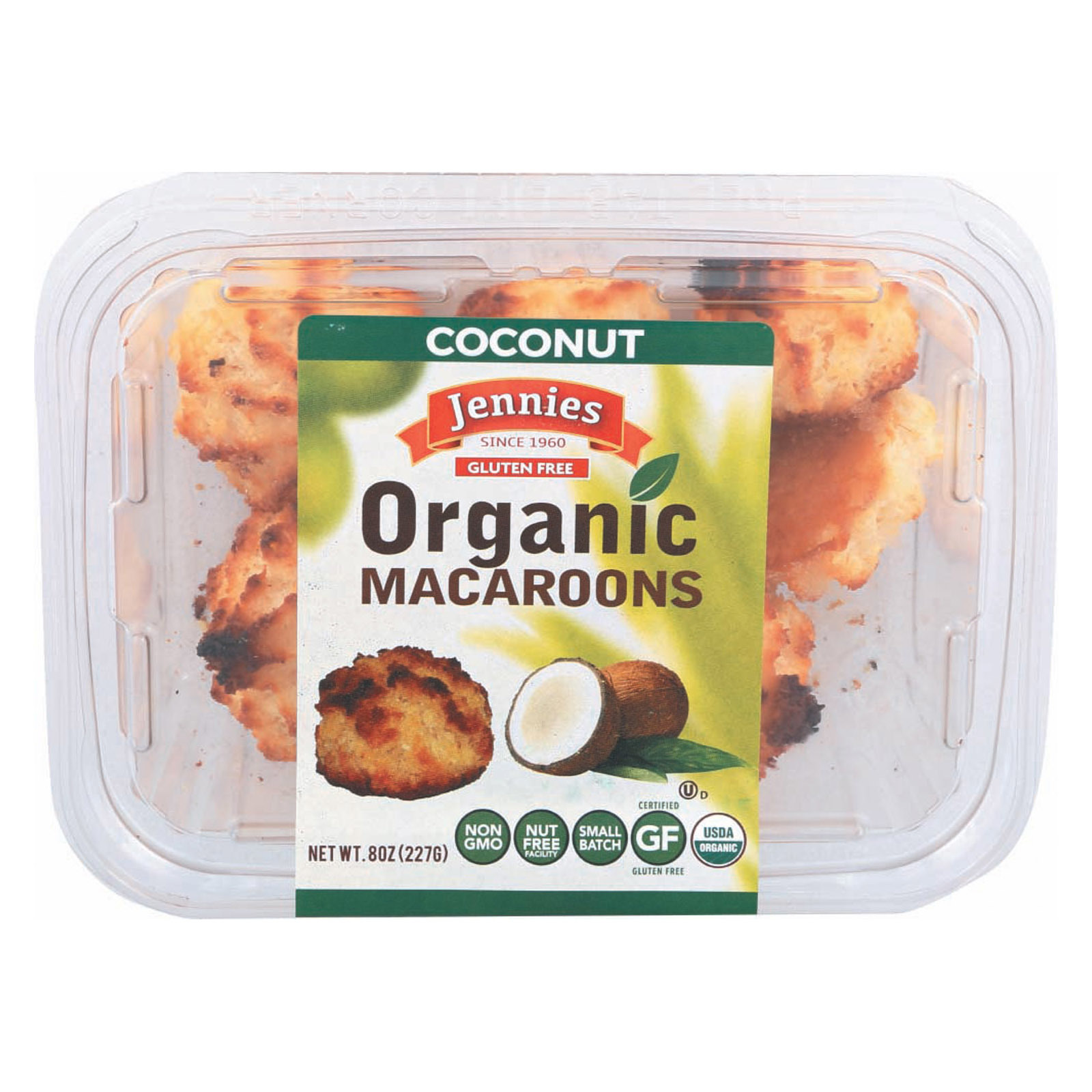 Jennies Organic Macaroon - Coconut - Case of 12 - 8 oz