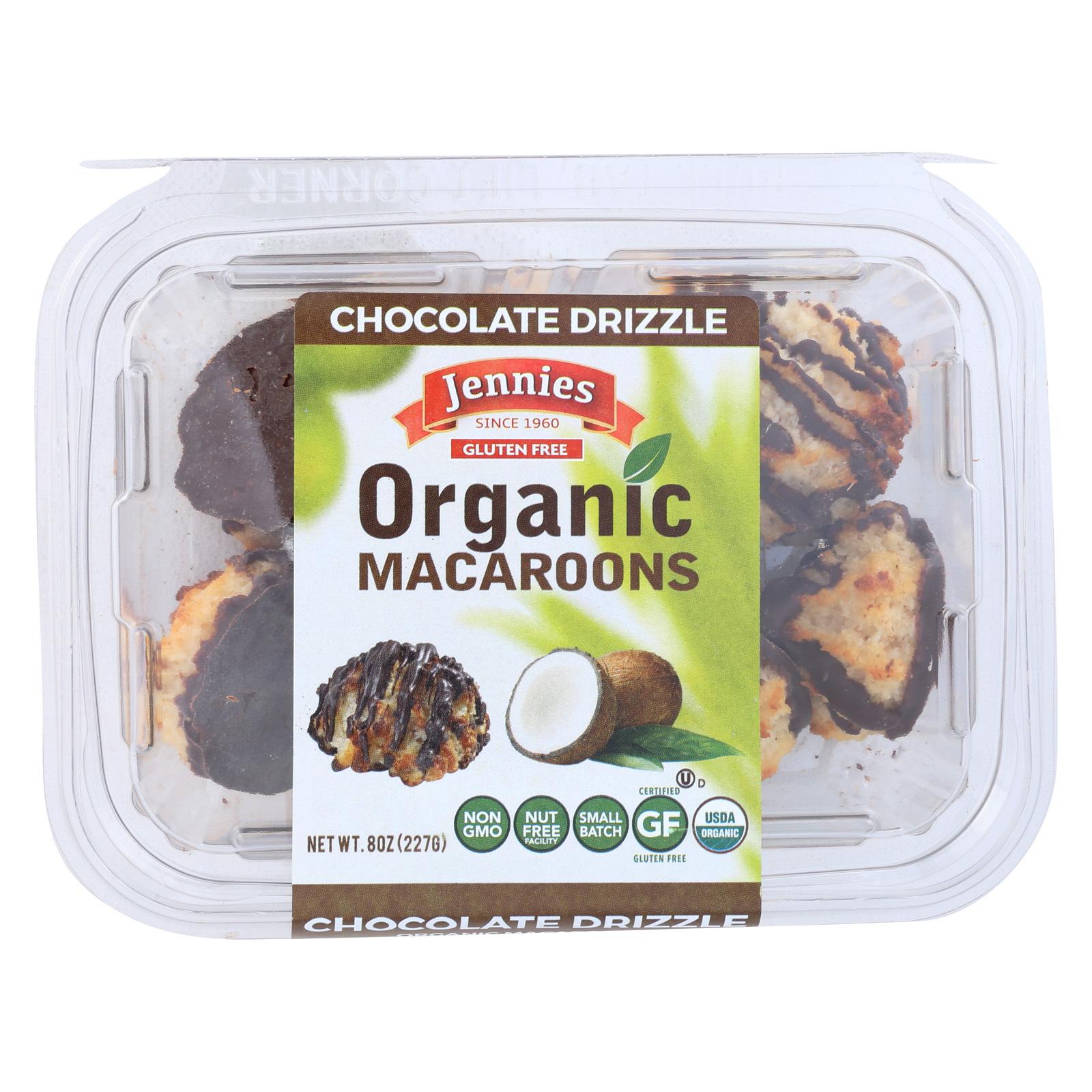 Jennie's Organic Macaroon - Chocolate Drizzle - Case of 12 - 8 oz.