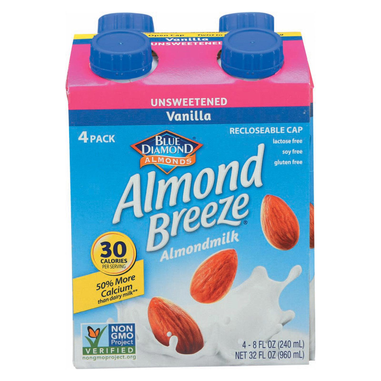 Almond Breeze Almond Breeze - Unsweetened Vanilla - Case of 6 - 4/8 oz