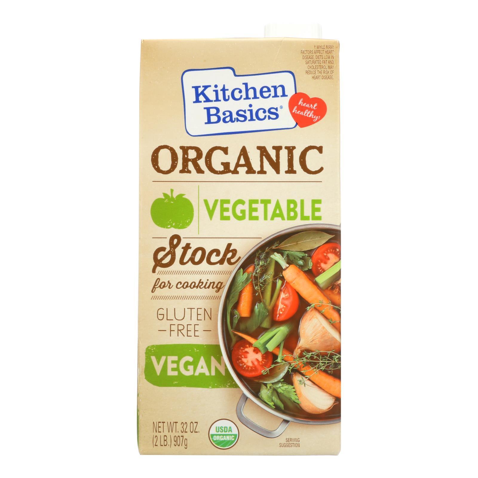 Kitchen Basics Vegetable Stock - Case of 12 - 32 oz.