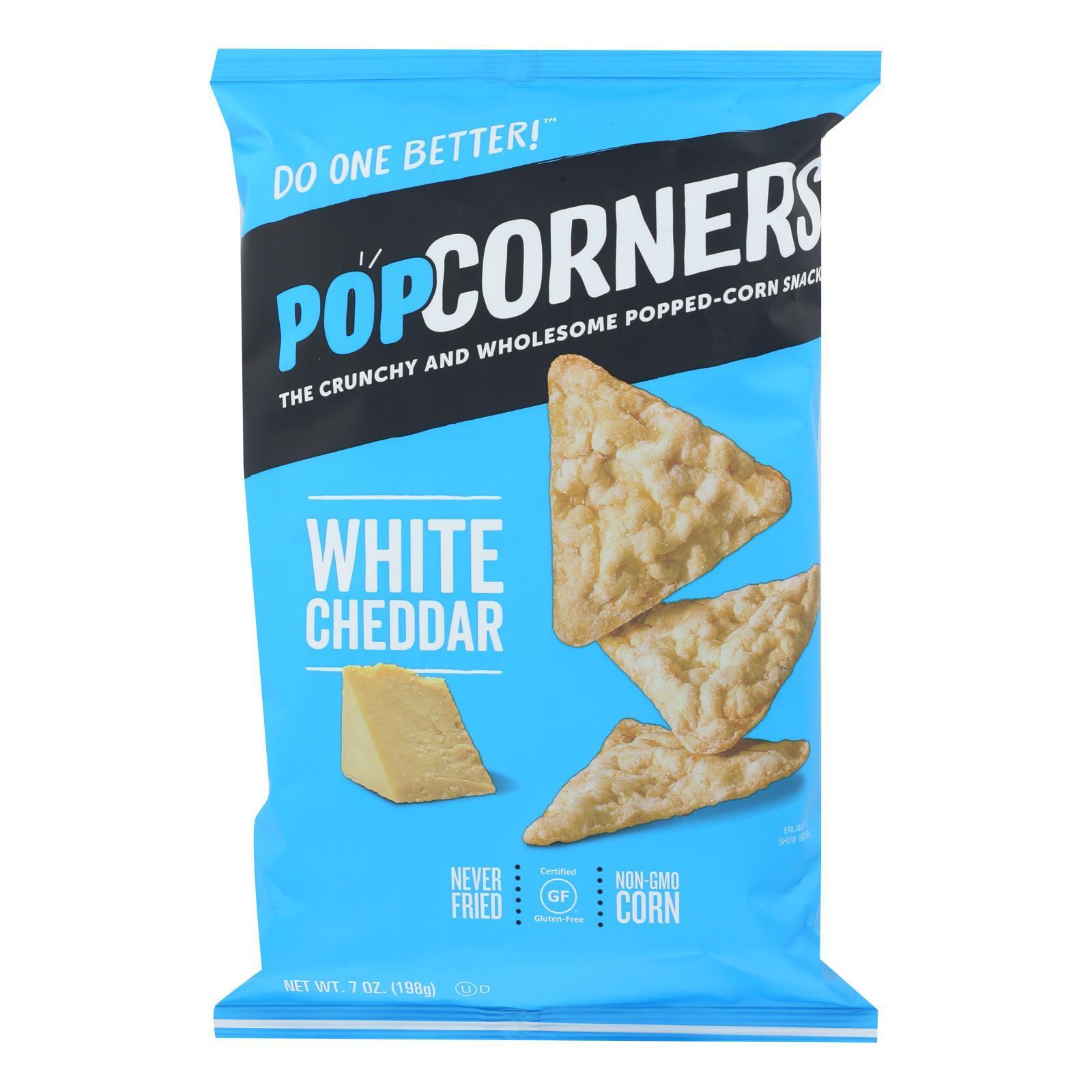 Our Little Rebellion Popcorners Chips - Cheddar Feel-Good - Case of 12 - 7 oz