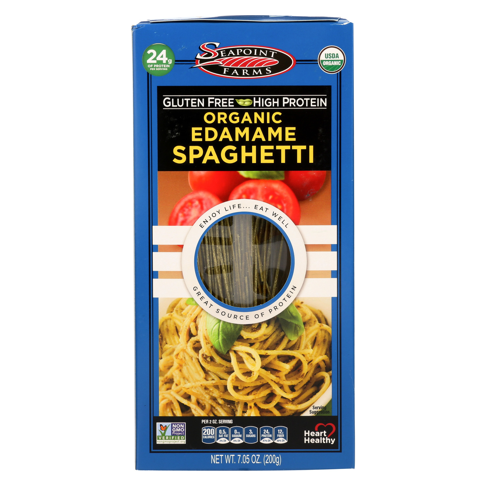 Seapoint Farms Edamame Spaghetti - Case of 12 - 7.5 oz.
