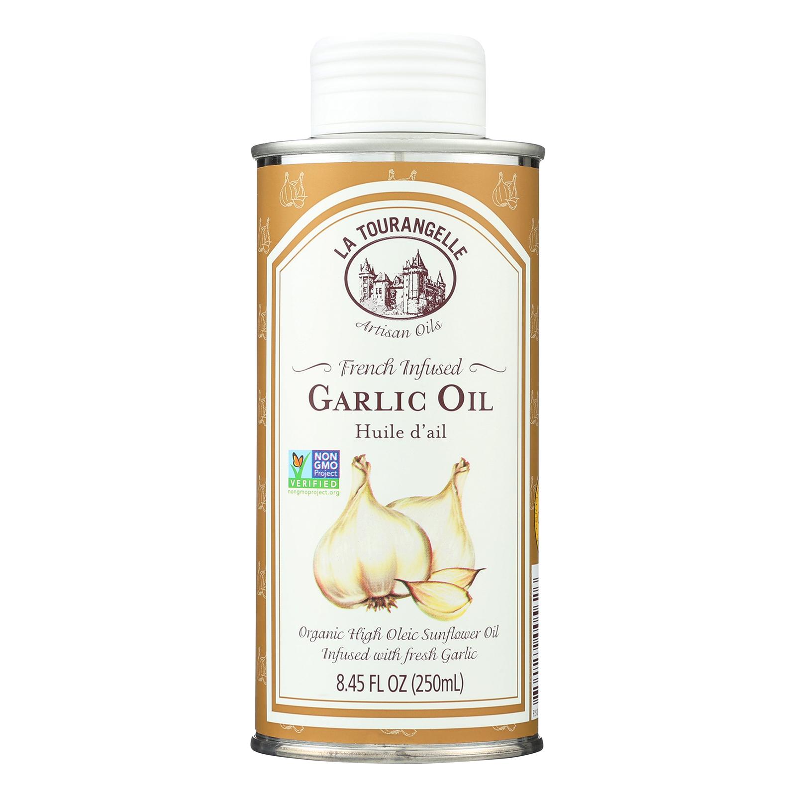 La Tourangelle French Infused Garlic Oil - Case of 6 - 8.45 Fl oz.