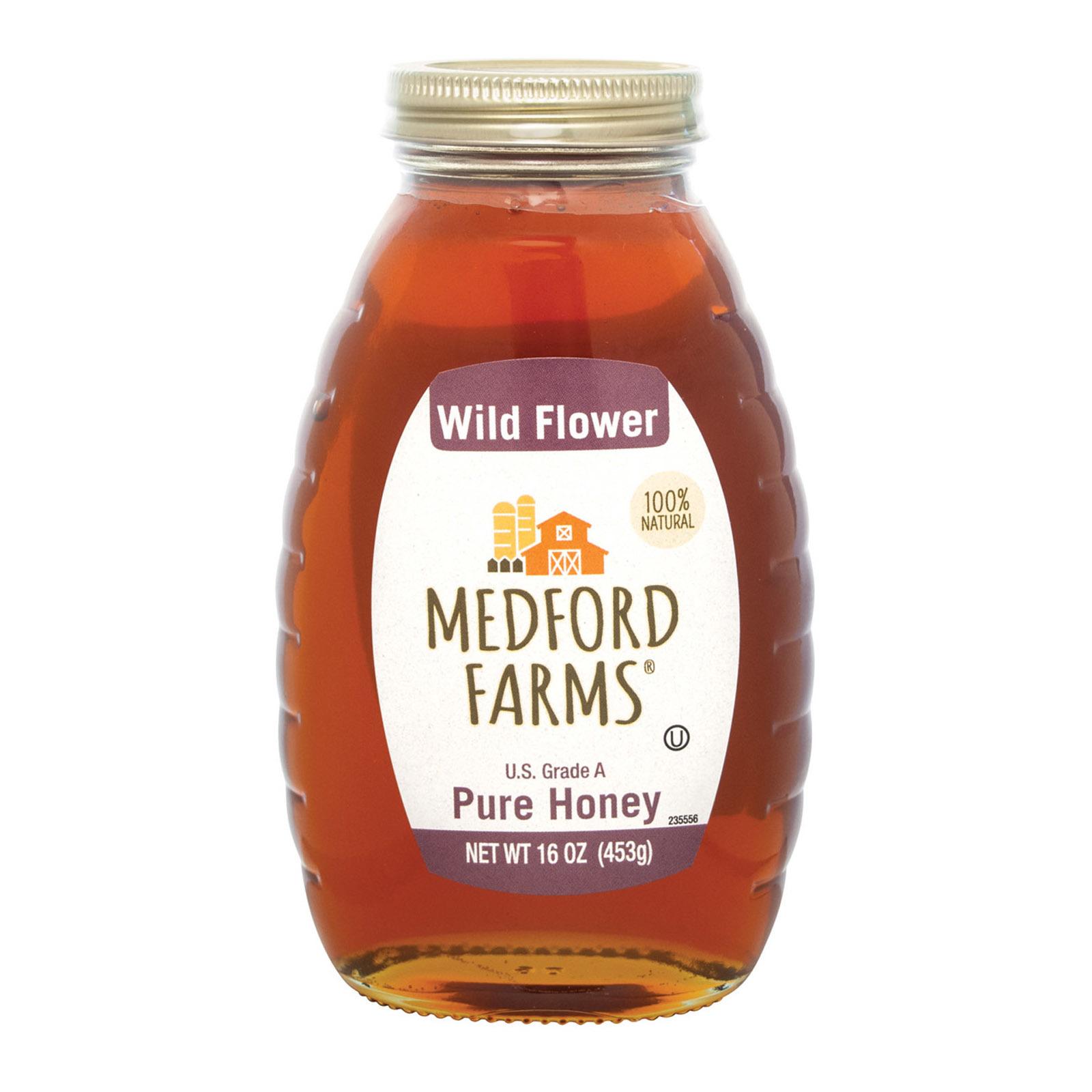 Medford Farms Honey - Wild Flower - Case of 12 - 16 oz