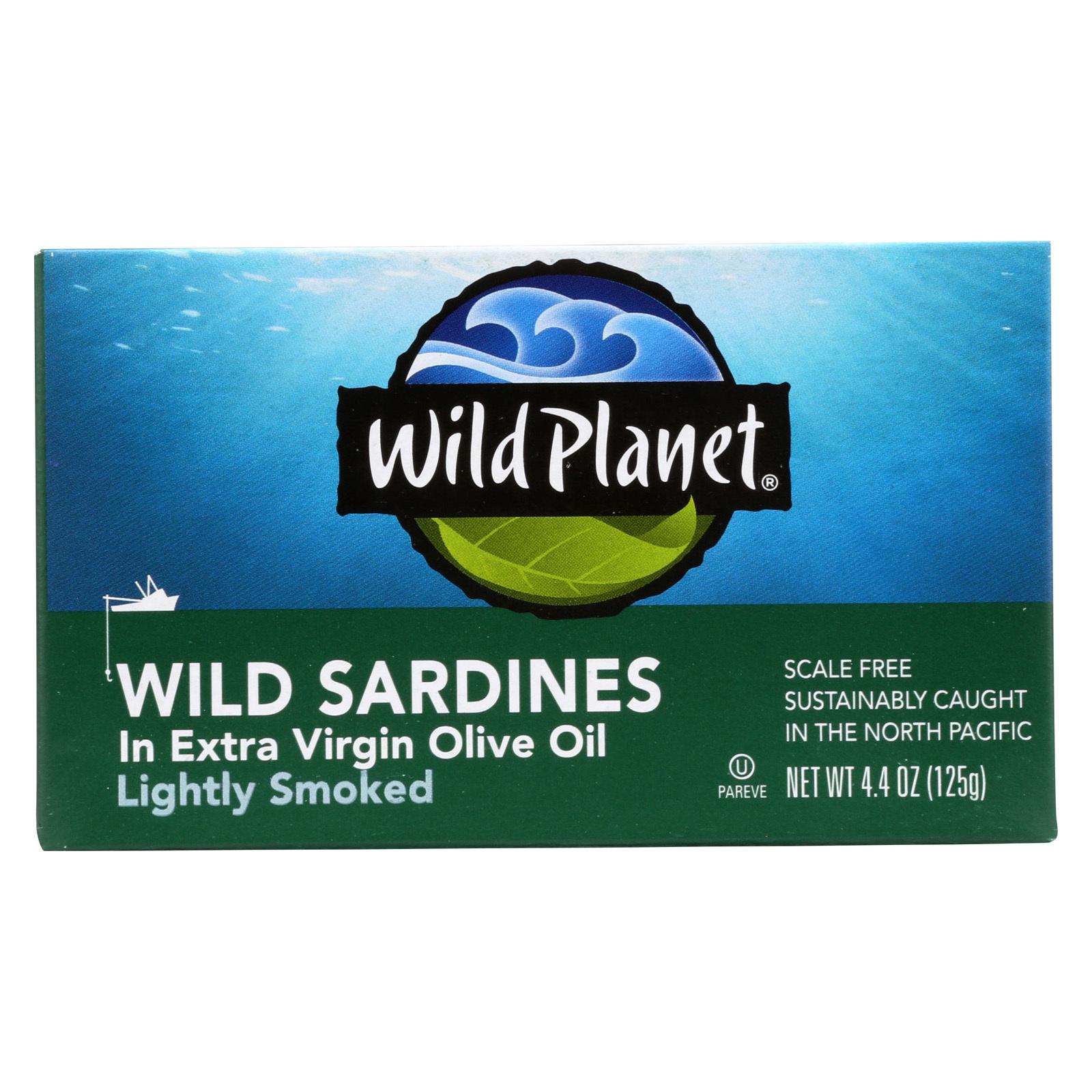 Wild Planet Wild Sardines - Extra Virgin Olive Oil - 4.4 oz