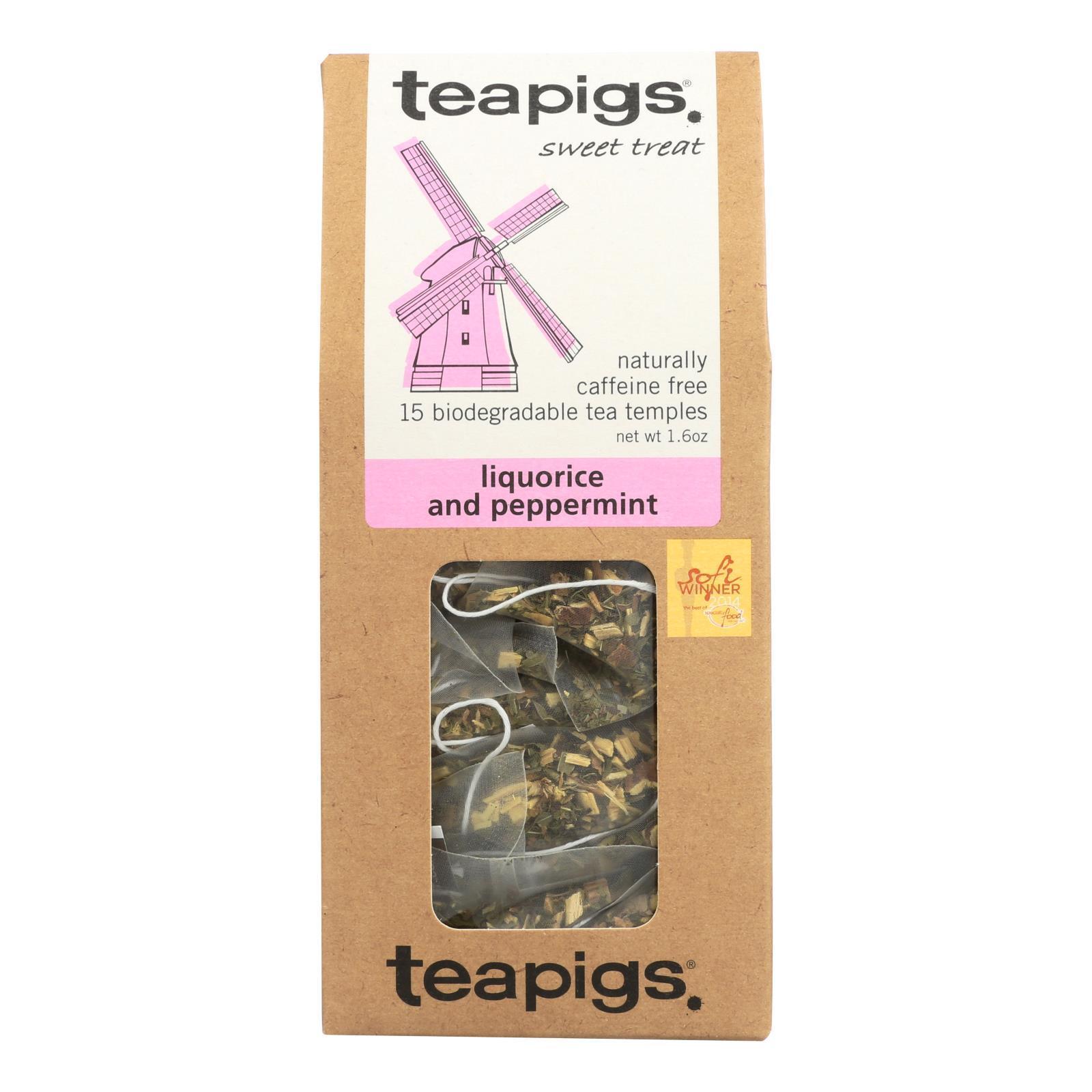 Teapigs Tea - Liquorice & Peppermnt - Case of 6 - 15 count