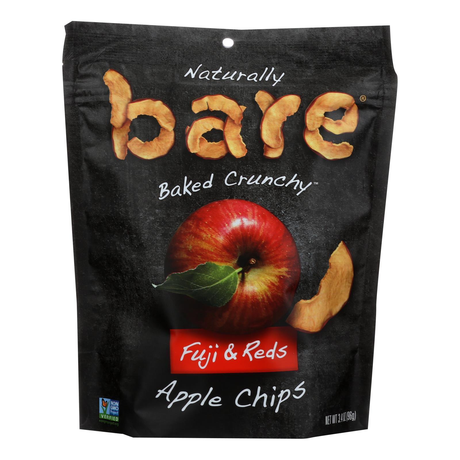 Bare Fruit Apple Chips - Fuji & Reds - Case of 12 - 3.4 oz