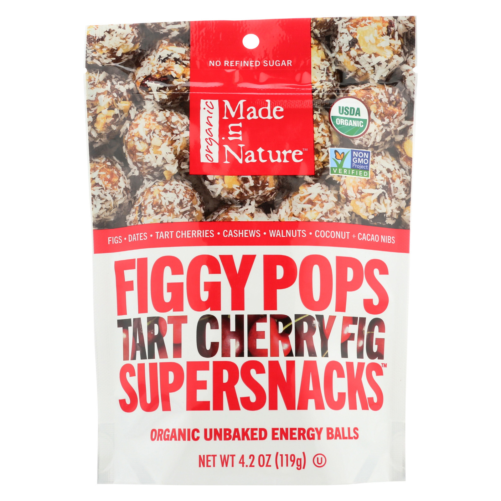 Made in Nature Figgy Pops - Tart Cherry Fig - Case of 6 - 4.2 oz